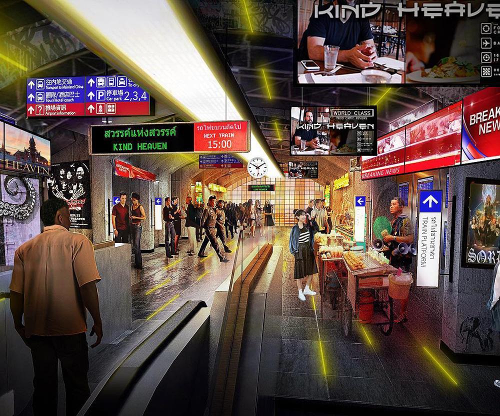 Kind Heaven train station rendering