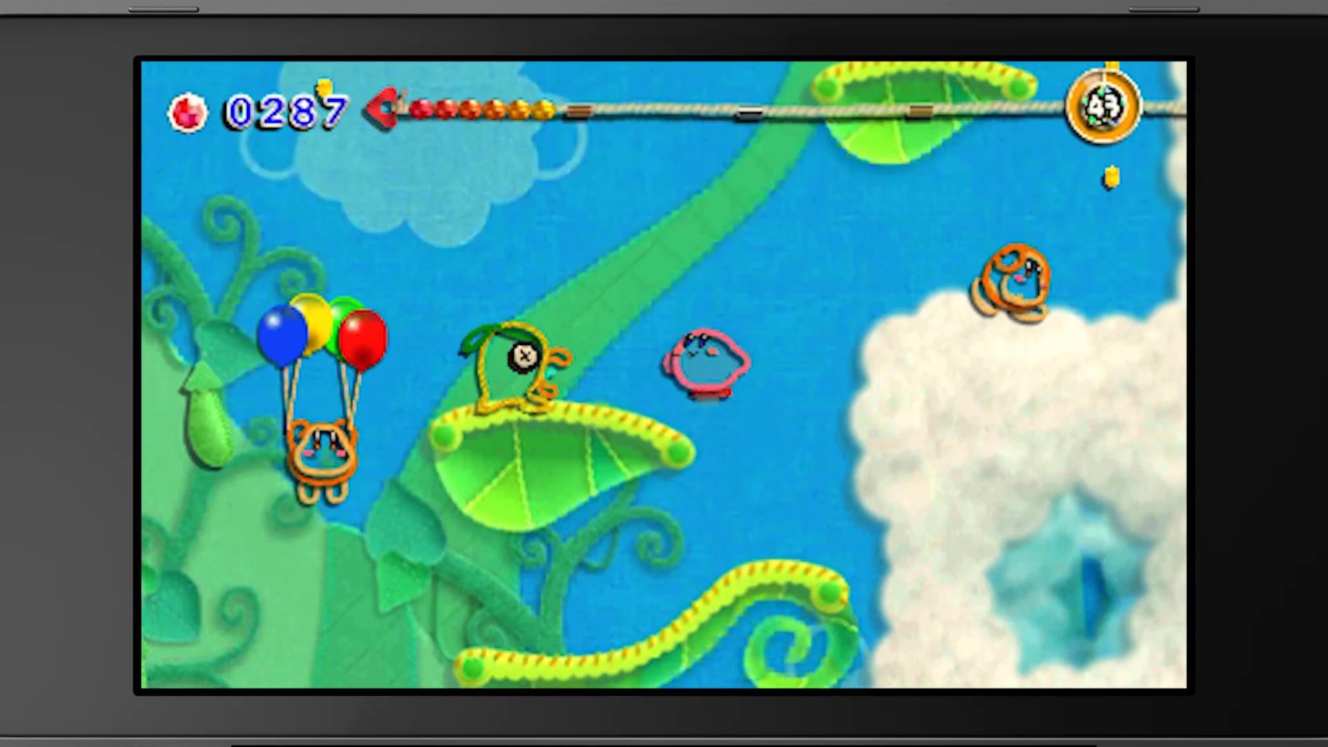 Kirby's Extra Epic Yarn - Kirby jumping