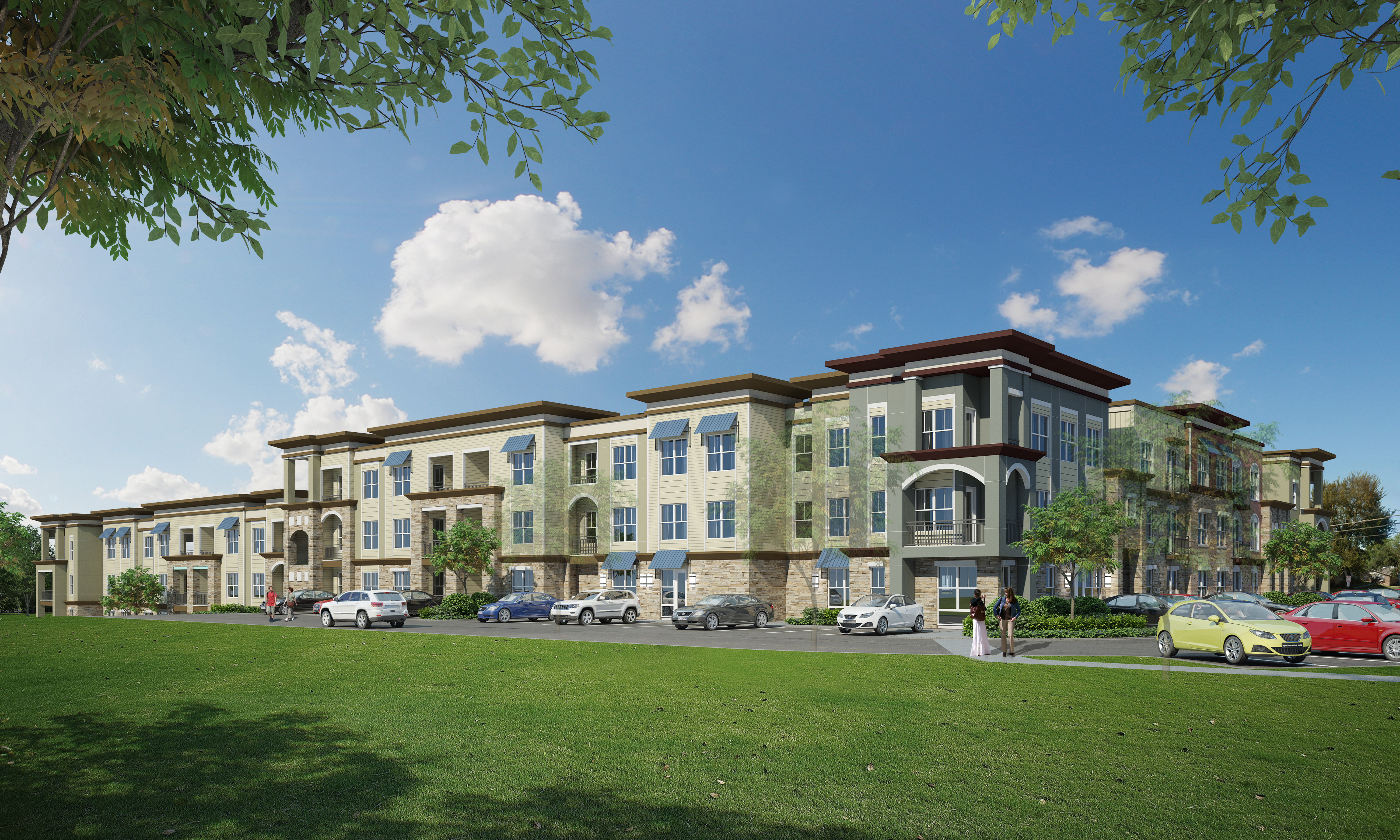 Rendering of planned Pathways at Goodrich Place development