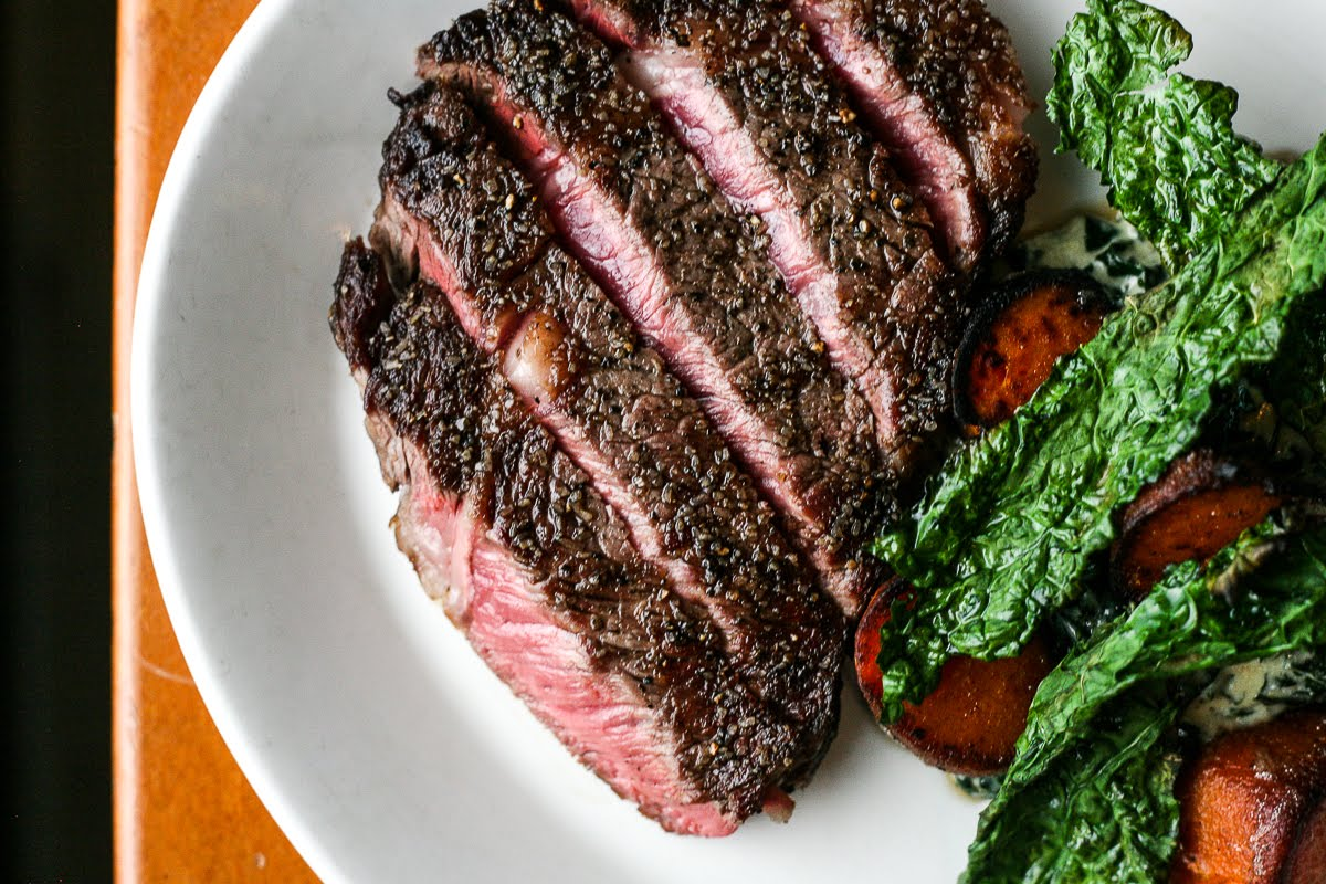 The steak at Meadow Neighborhood Eatery and Bar in San Antonio