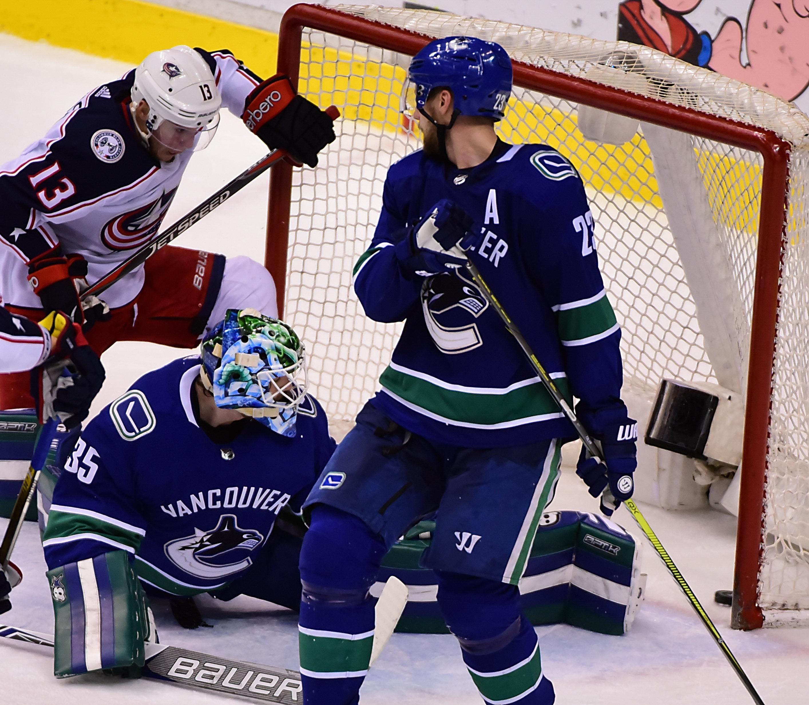 NHL: Columbus Blue Jackets at Vancouver Canucks