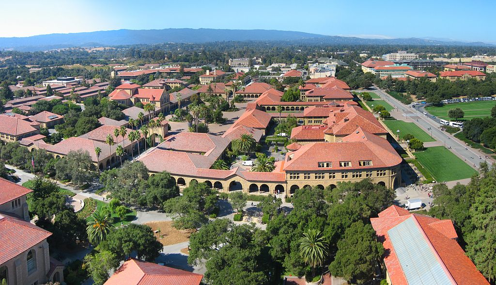 An aerial photo of Stanford's campus.