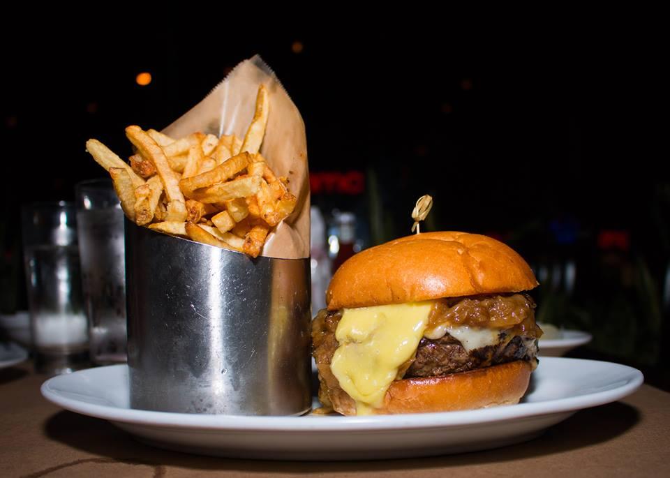 5 Napkin Burger burger and fries