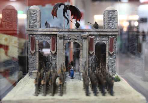 Behold the glorious Game of Thrones dioramas, dire wolves and toys of San Diego Comic-Con