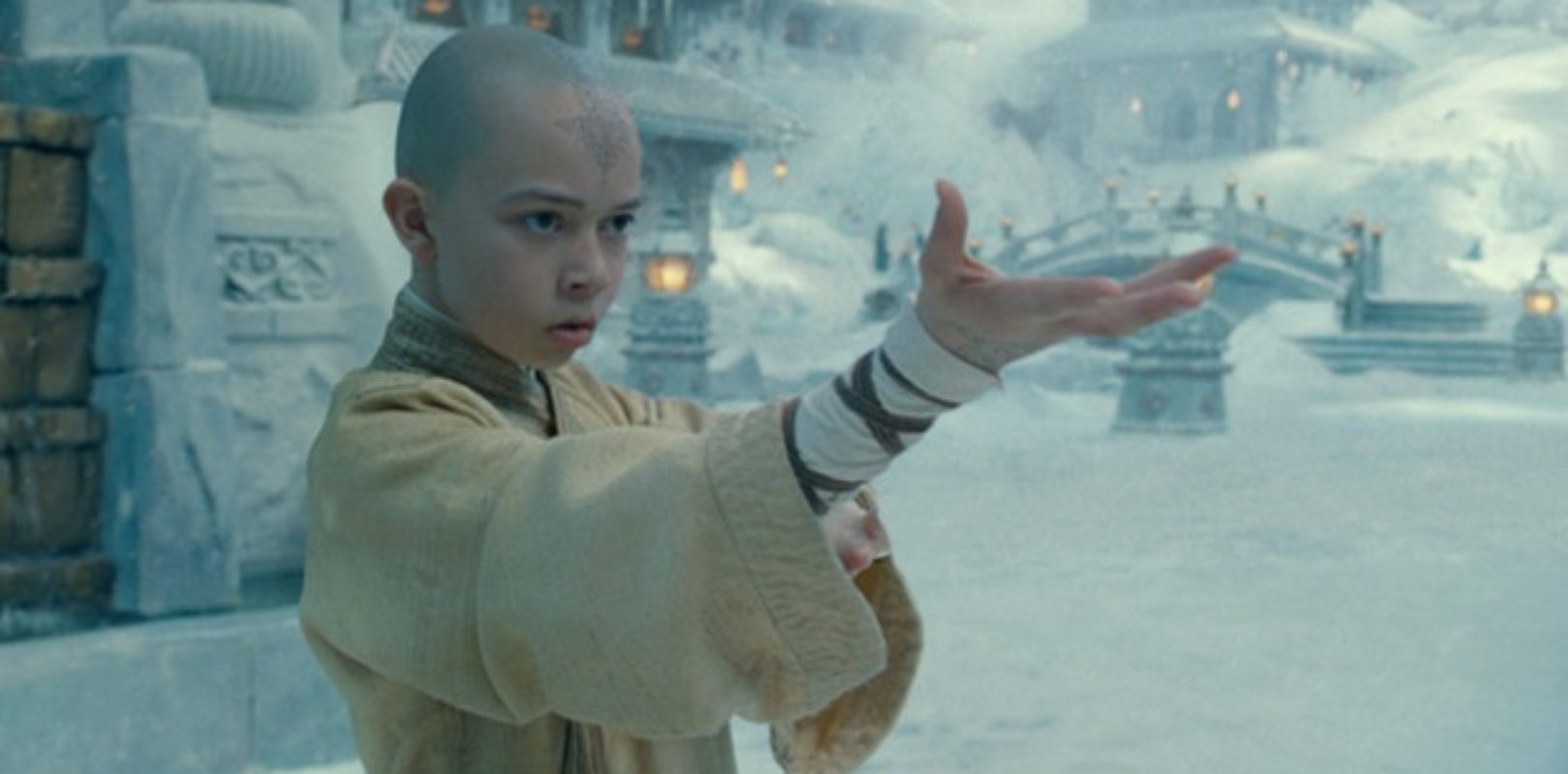 Aang from the live-action Avatar movie