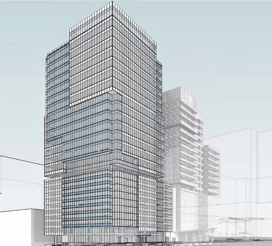 a rendering of the tower planed