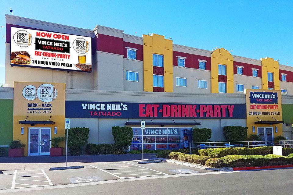 Vince Neil's Tatuado Eat Drink Party exterior
