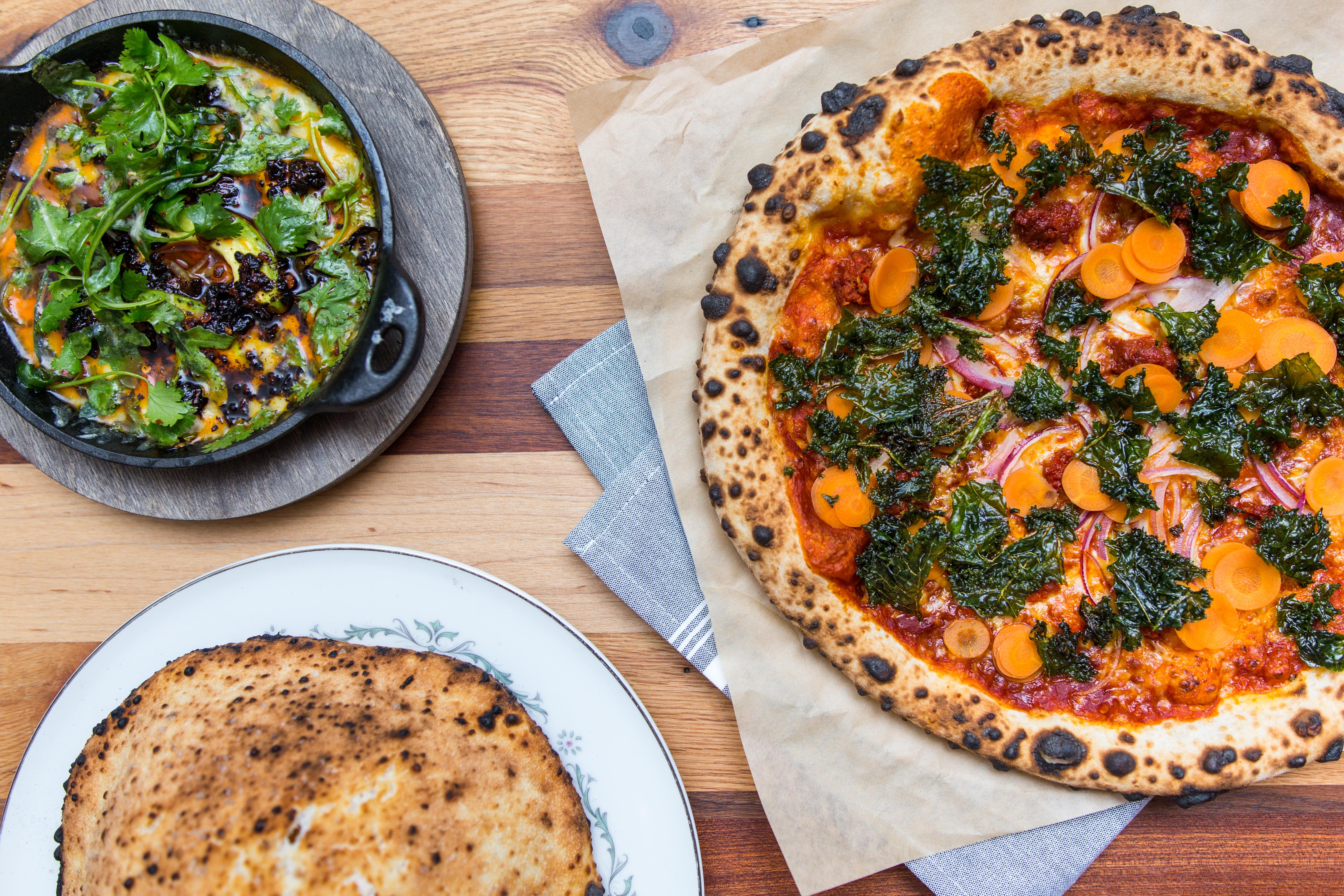 40 North and Suerte's queso fundido and La Buena pizza