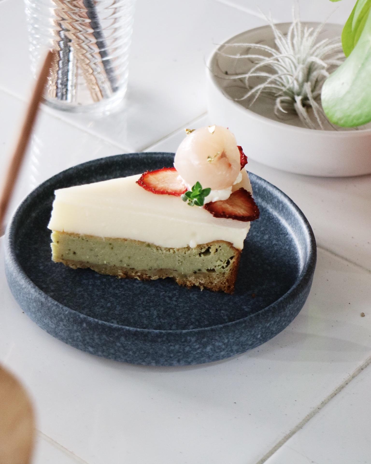 Lychee oolong cheesecake