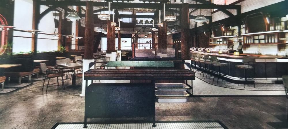 Mabel's BBQ interior rendering