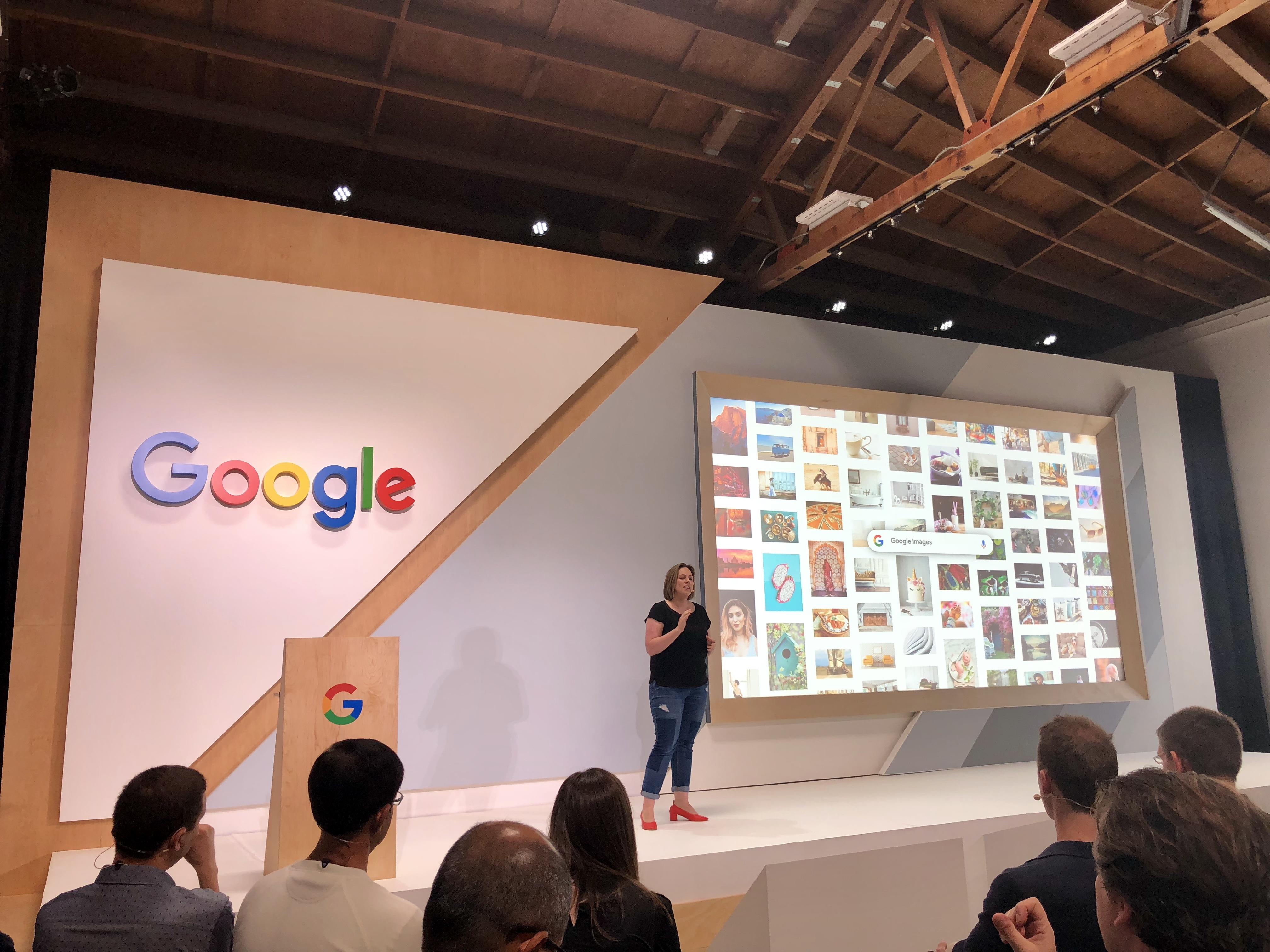Google exec Cathy Edwards onstage