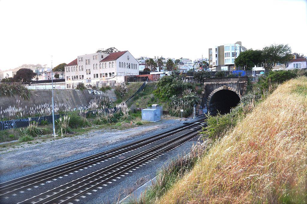 A Cal Train tunnel in San Francisco.