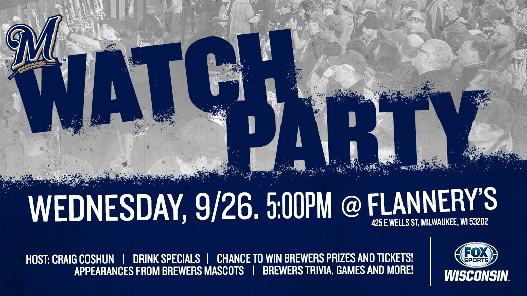 Watch the Crew try to clinch a playoff spot at Flannery's
