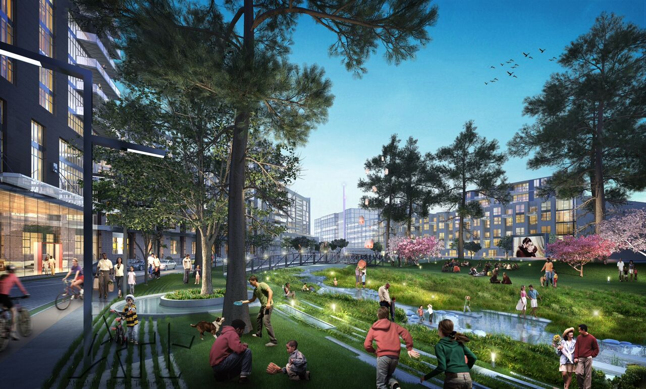 A rendering of the forthcoming Assembly project in Doraville.
