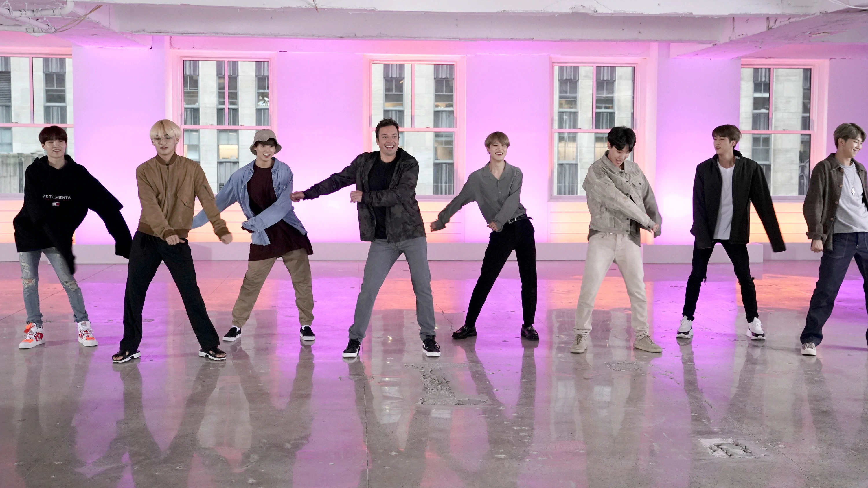 Fortnite dances as performed by BTS, the world's most