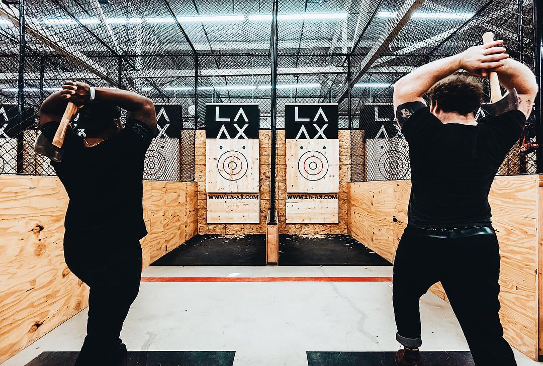Holy Crap: LA's First Ax-Throwing Spot Just Opened in a North Hollywood Warehouse