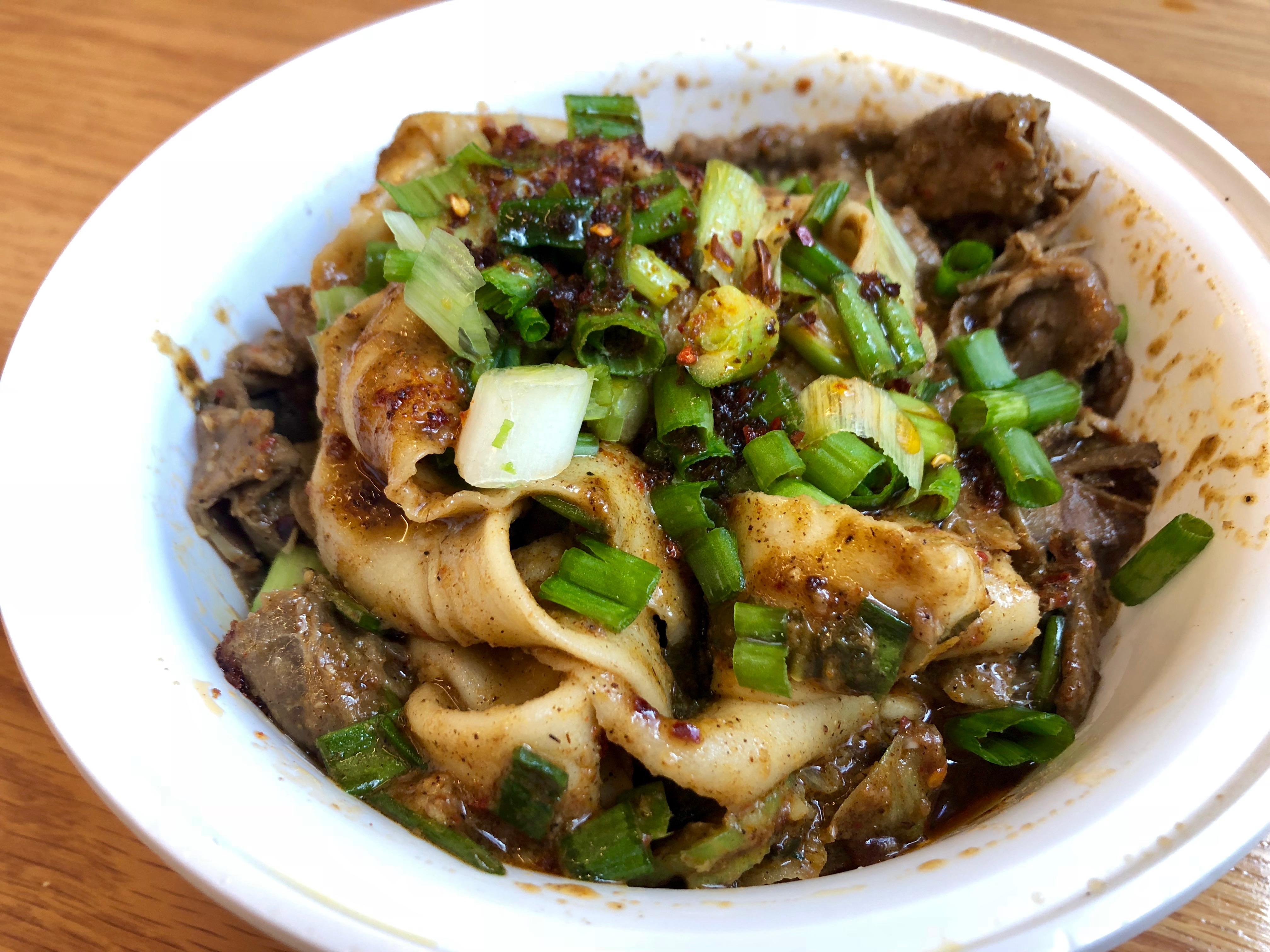 Cumin lamb noodles at Very Fresh Noodles
