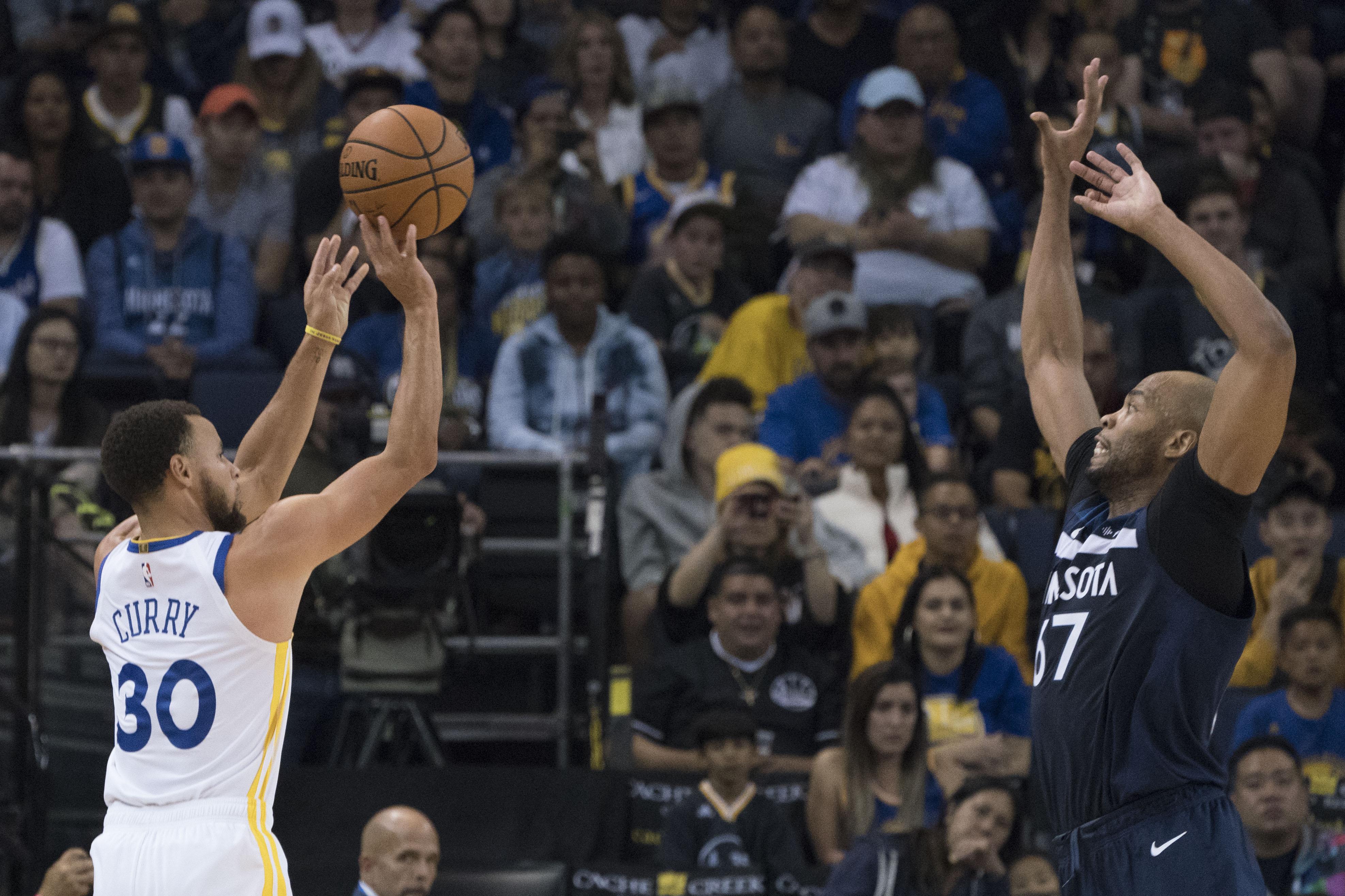 86768466 NBA: Preseason-Minnesota Timberwolves at Golden State Warriors