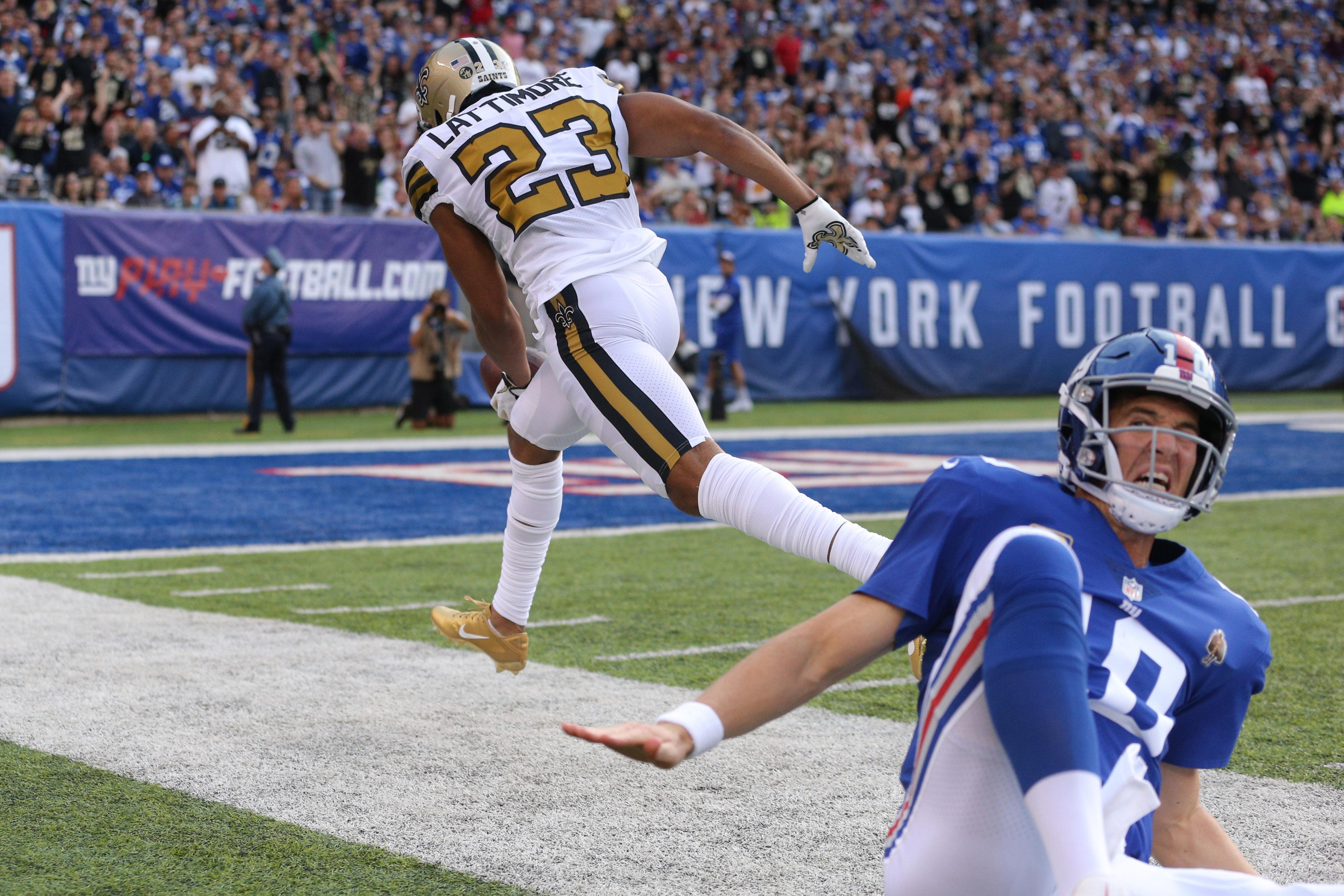 NFL: New Orleans Saints at New York Giants