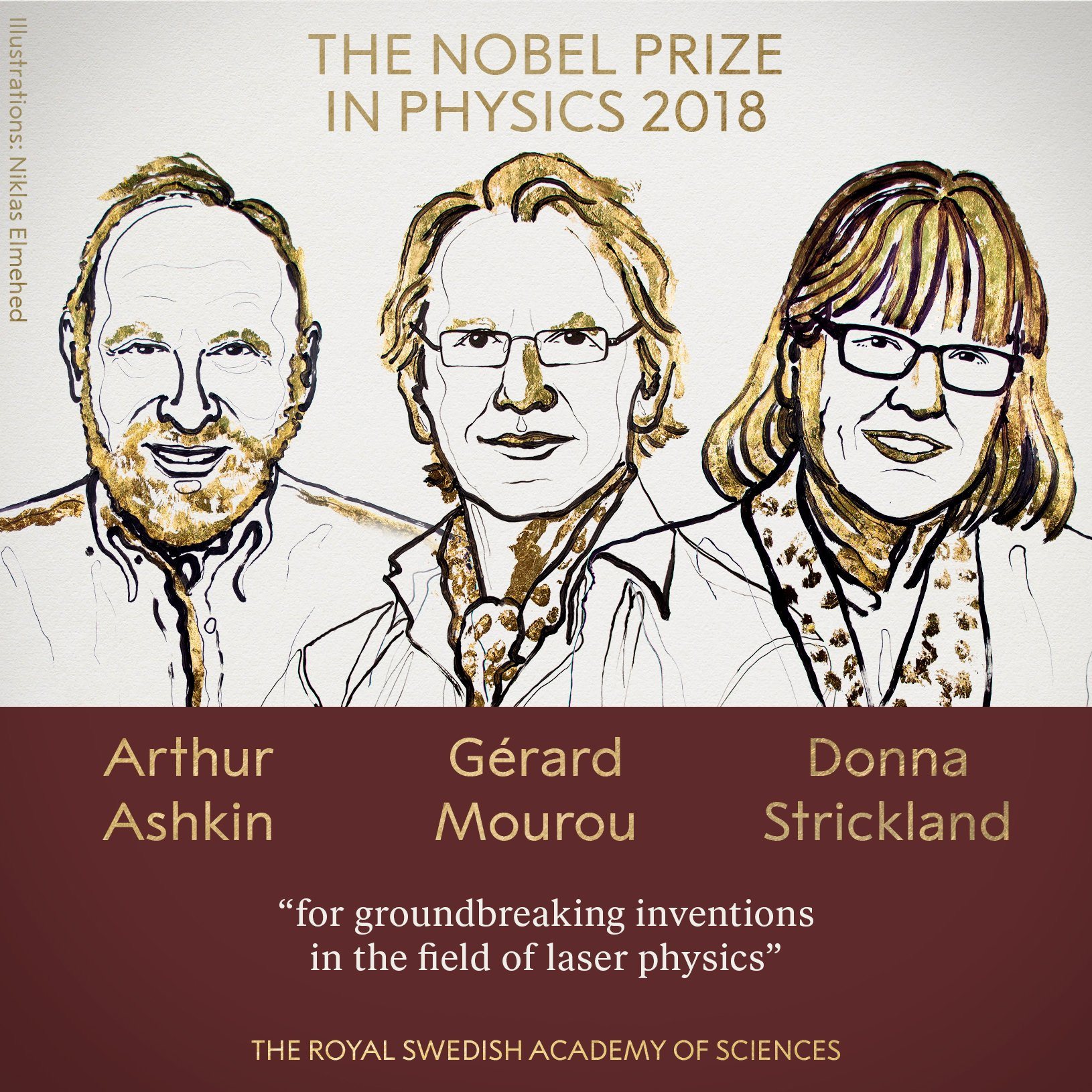 Nobel prizes 2018 physics b