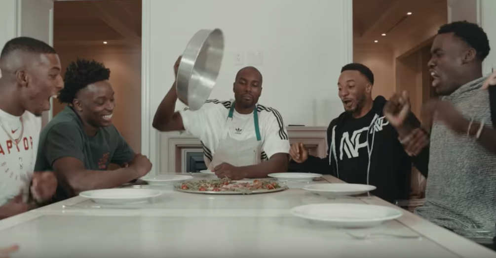 Serge Ibaka made his Raptors teammates eat LAMB BRAIN, and it went exactly how you'd expect