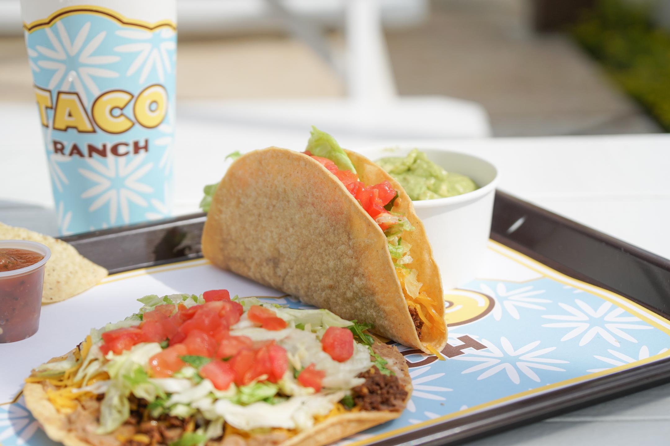 A crispy taco from Taco Ranch