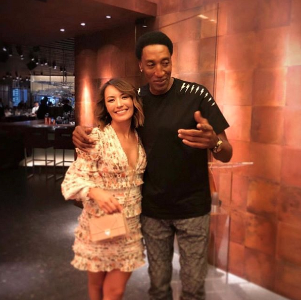 Scottie Pippen Dines on the Strip