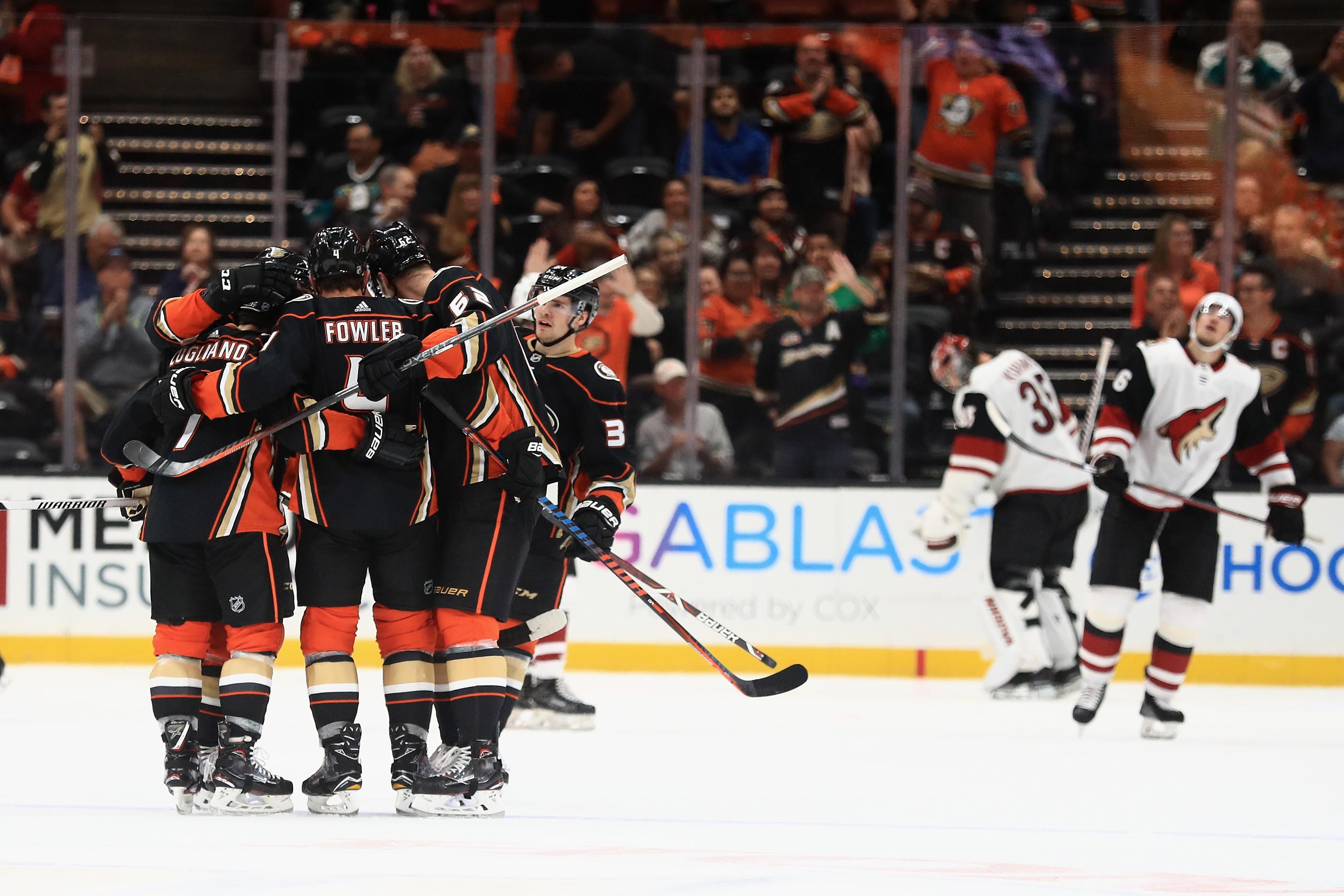 Arizona Coyotes v Anaheim Ducks
