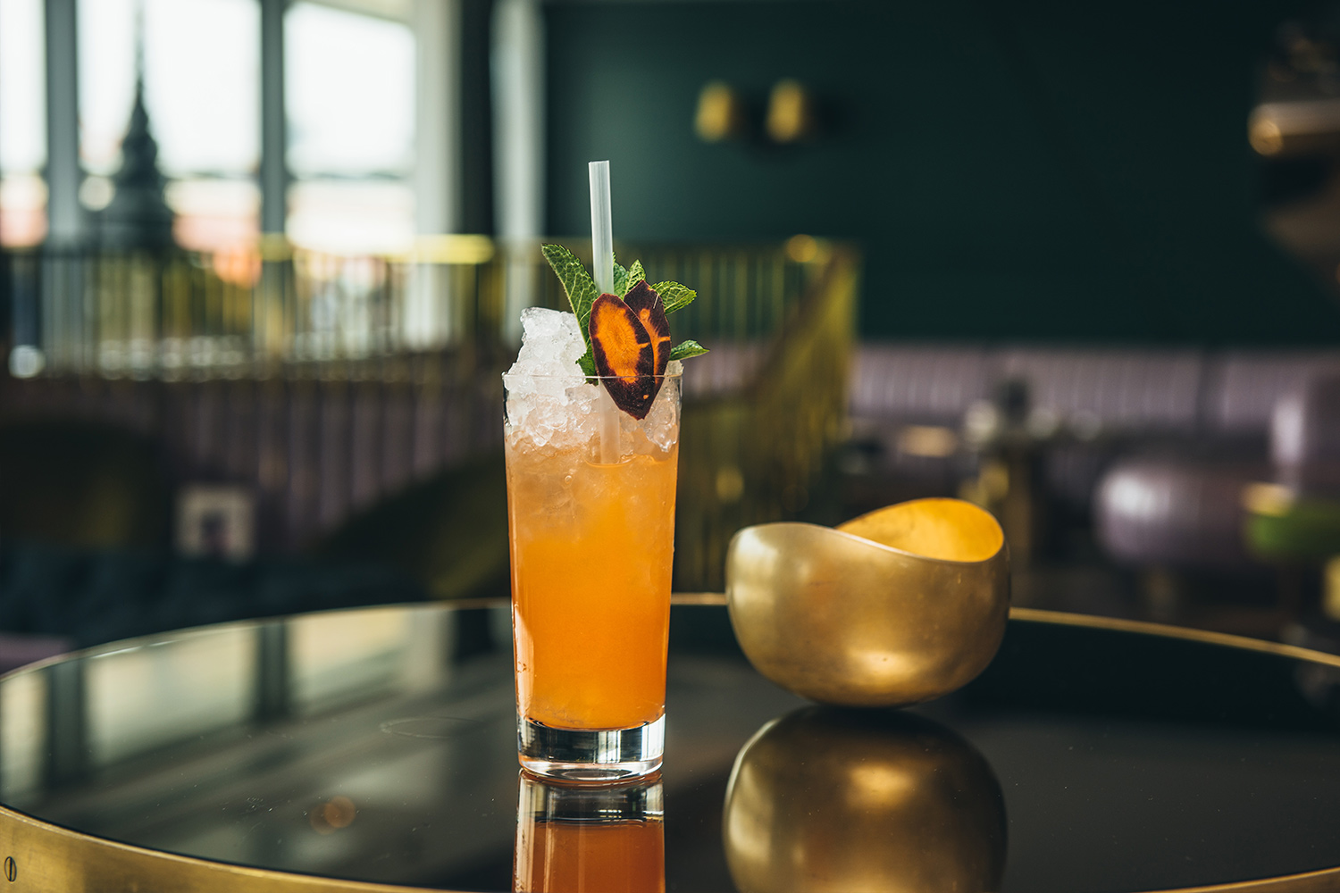 Botany inspired modern cocktails at Mr Lyan's World's Best Bar, London cocktail bar Dandelyan at Mondrian Hotel on the Southbank, which will close after four years and holding World's Best Bar