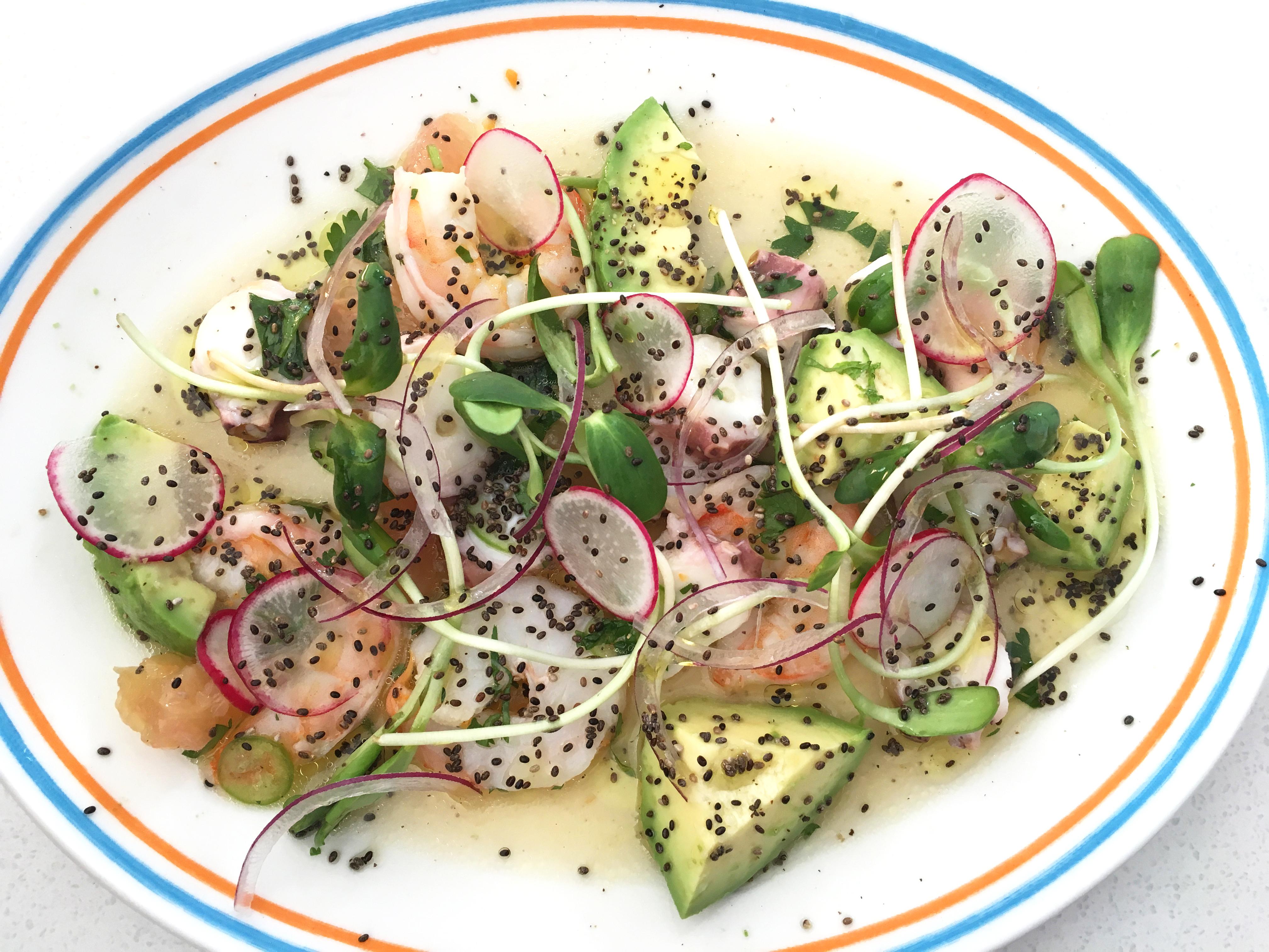 Joann's shrimp and octopus ceviche