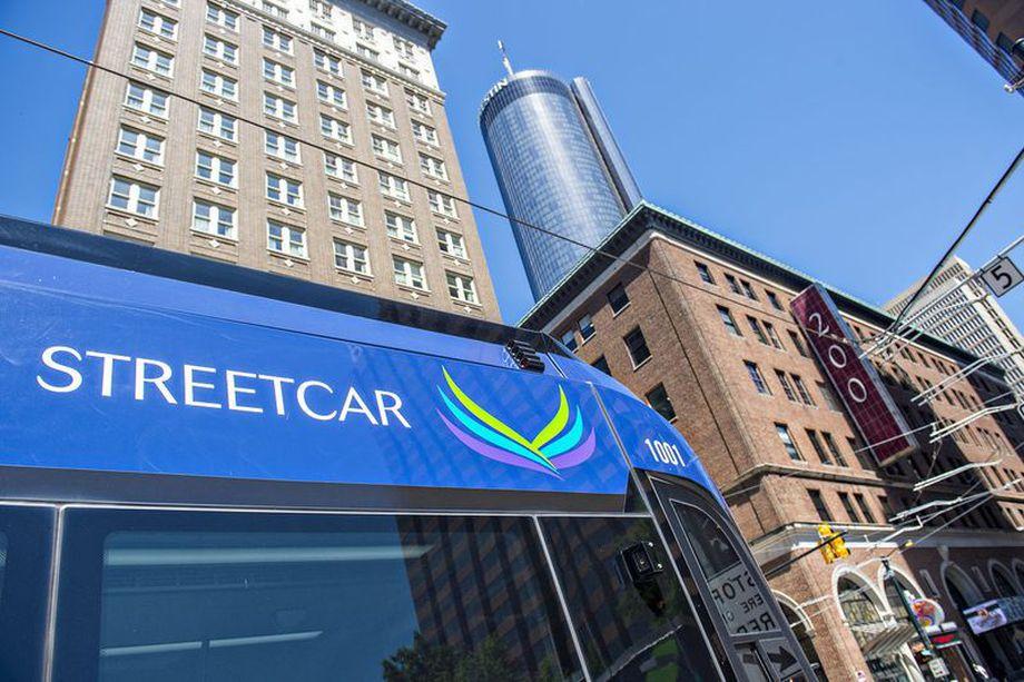A photo of the Atlanta Streetcar.
