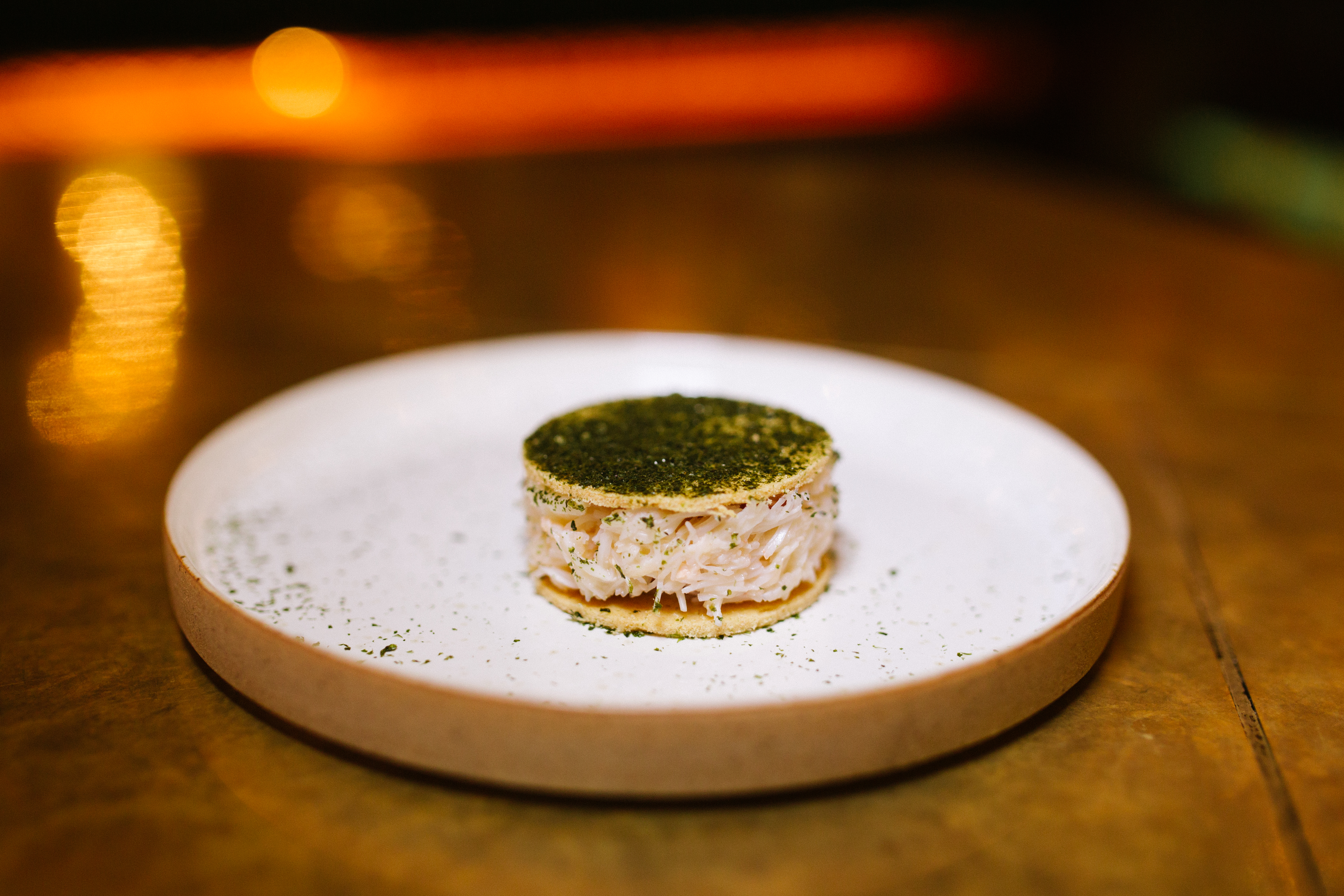 Brown crab with picked white crab, seaweed and brown butter at 1251, the new restaurant by Great British Menu chef James Cochran which Jay Rayner reviewed this week
