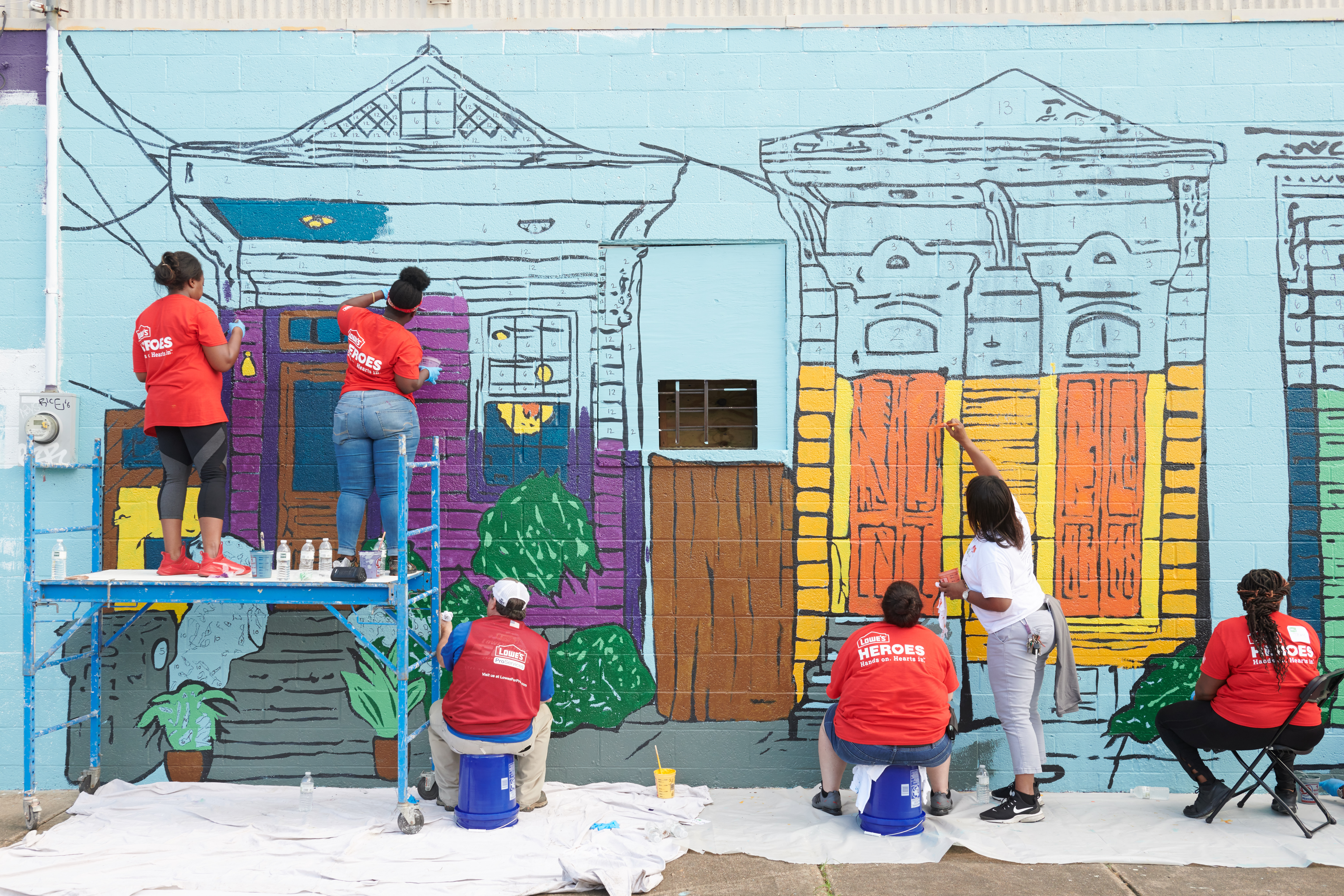 St Roch has a new tool lending library and murals courtesy of nonprofit Rebuilding To her