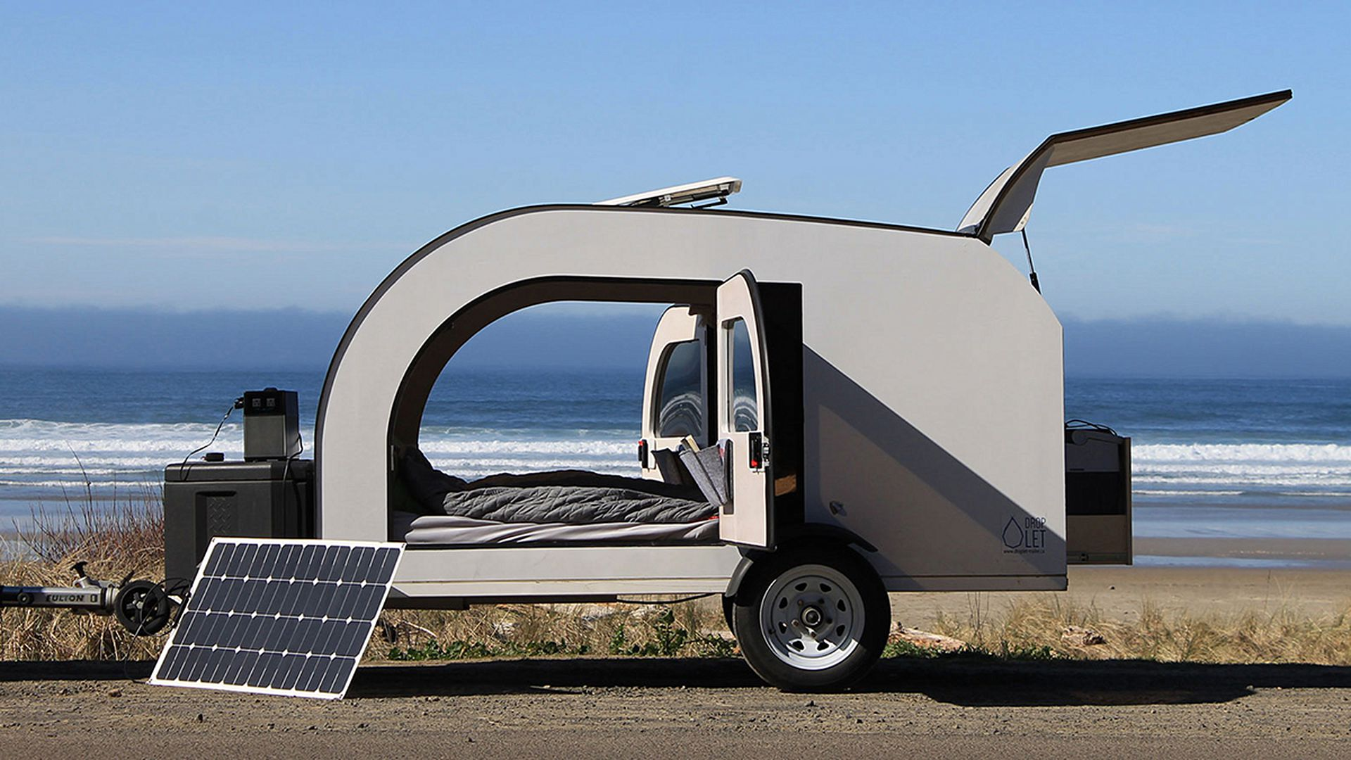 Rvs Campers And Trailers Curbed Marinesolarpanelrvsolarpanelgif Tiny Camper Trailer Can Be Towed By Almost Any Car