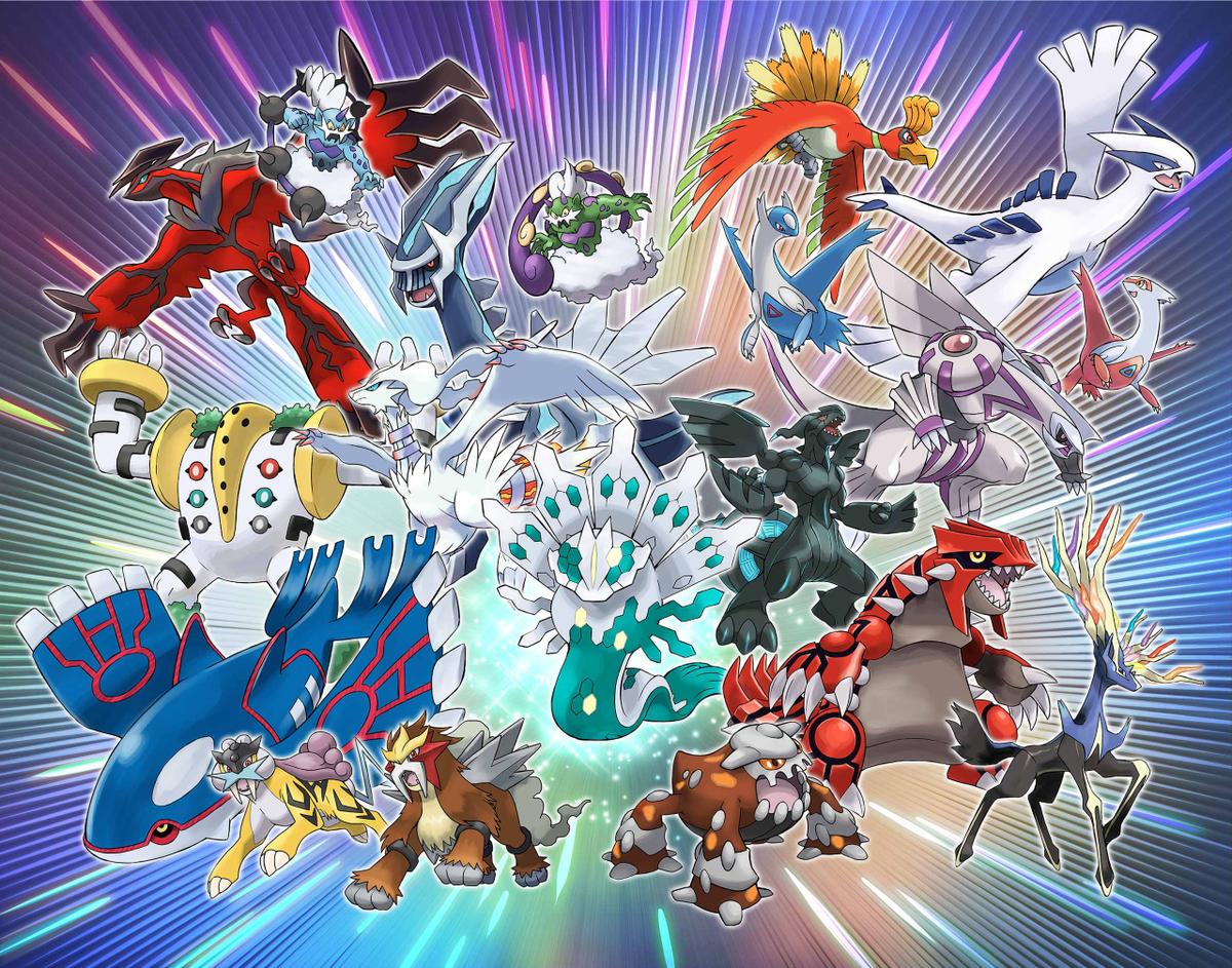 A selection of Legendary Pokémon