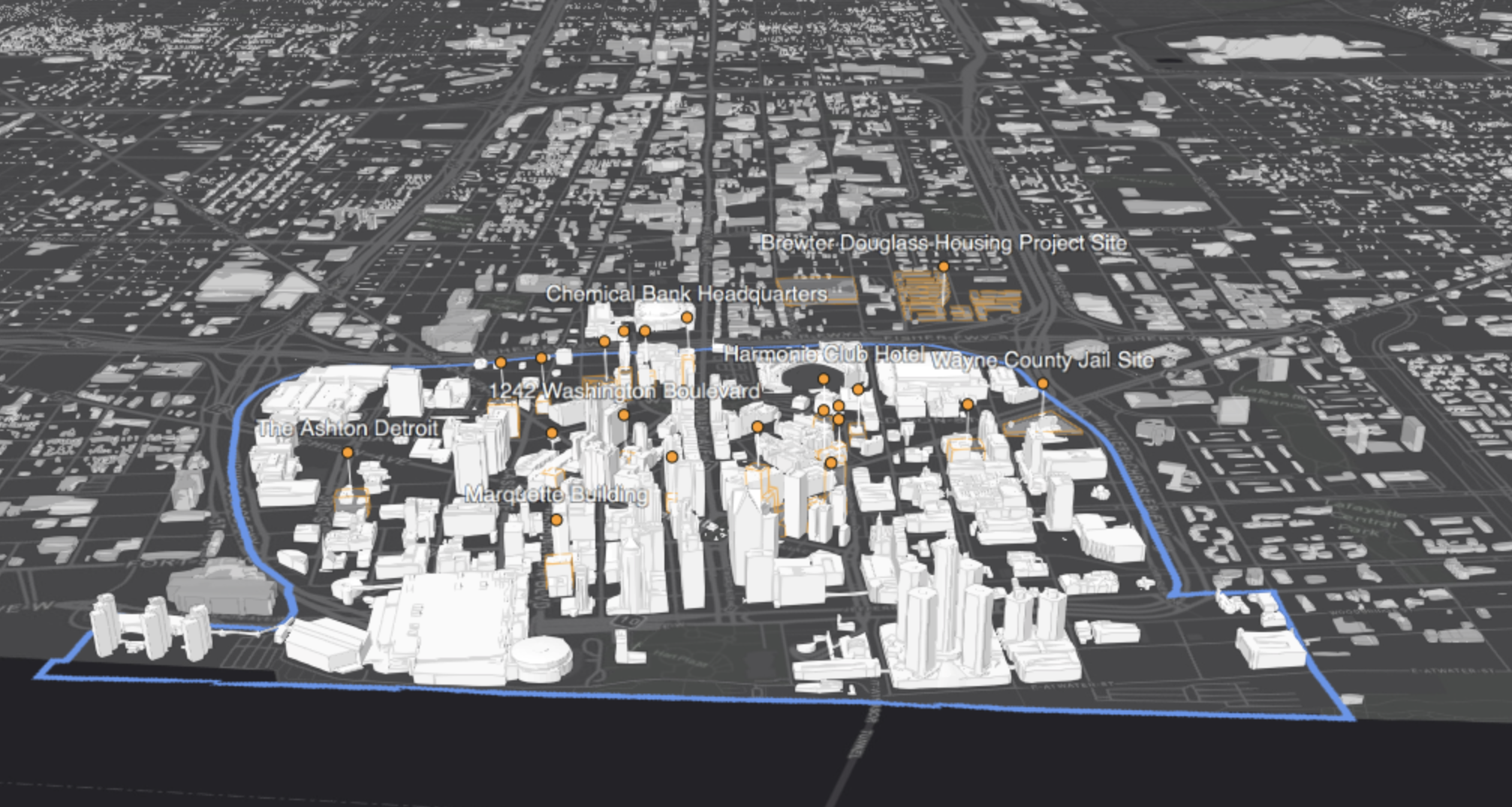 New interactive map reveals downtown Detroit development progress and pipeline