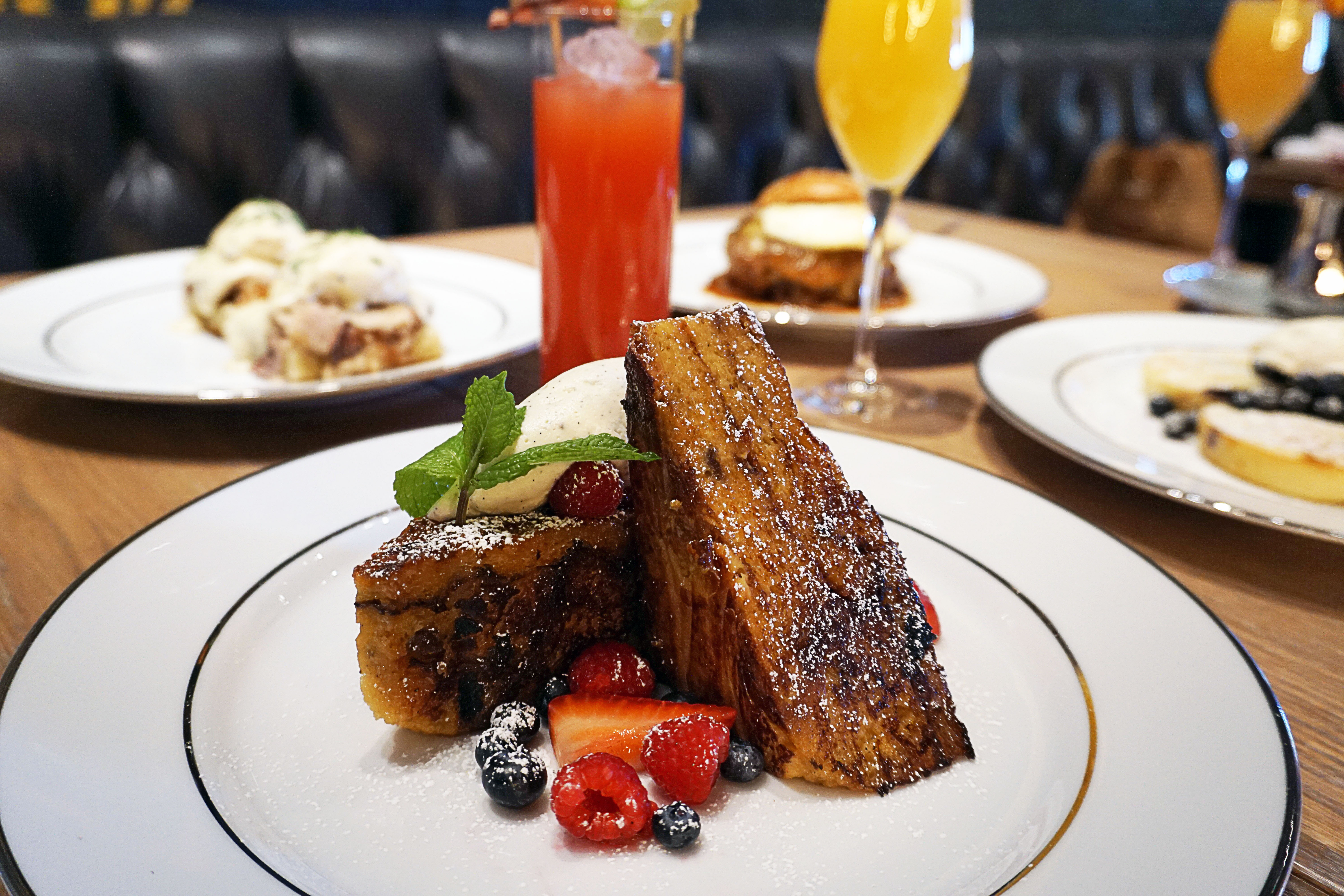 Panettone French toast at Masso Osteria