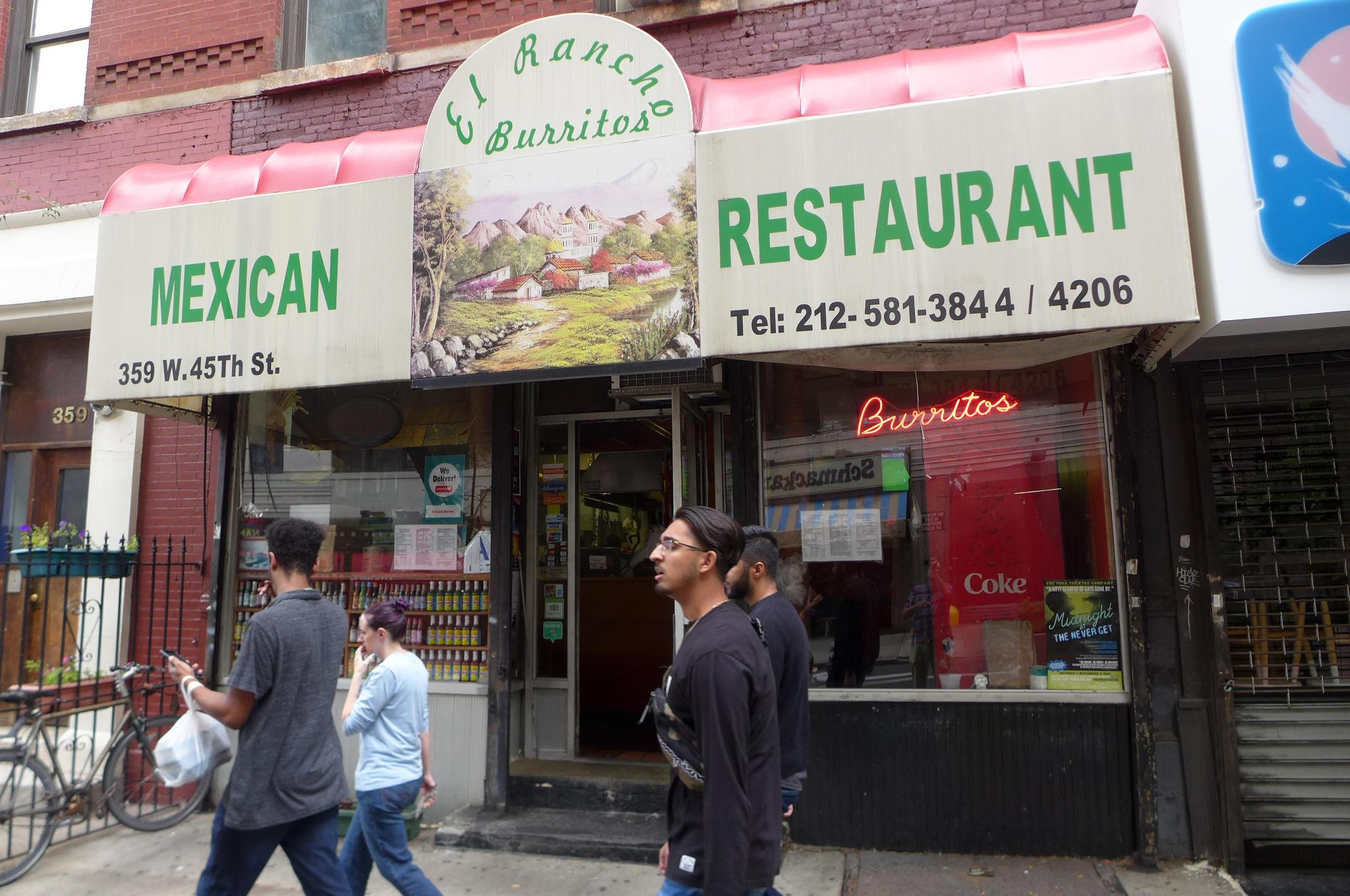 Burrito paradise just off Ninth Avenue