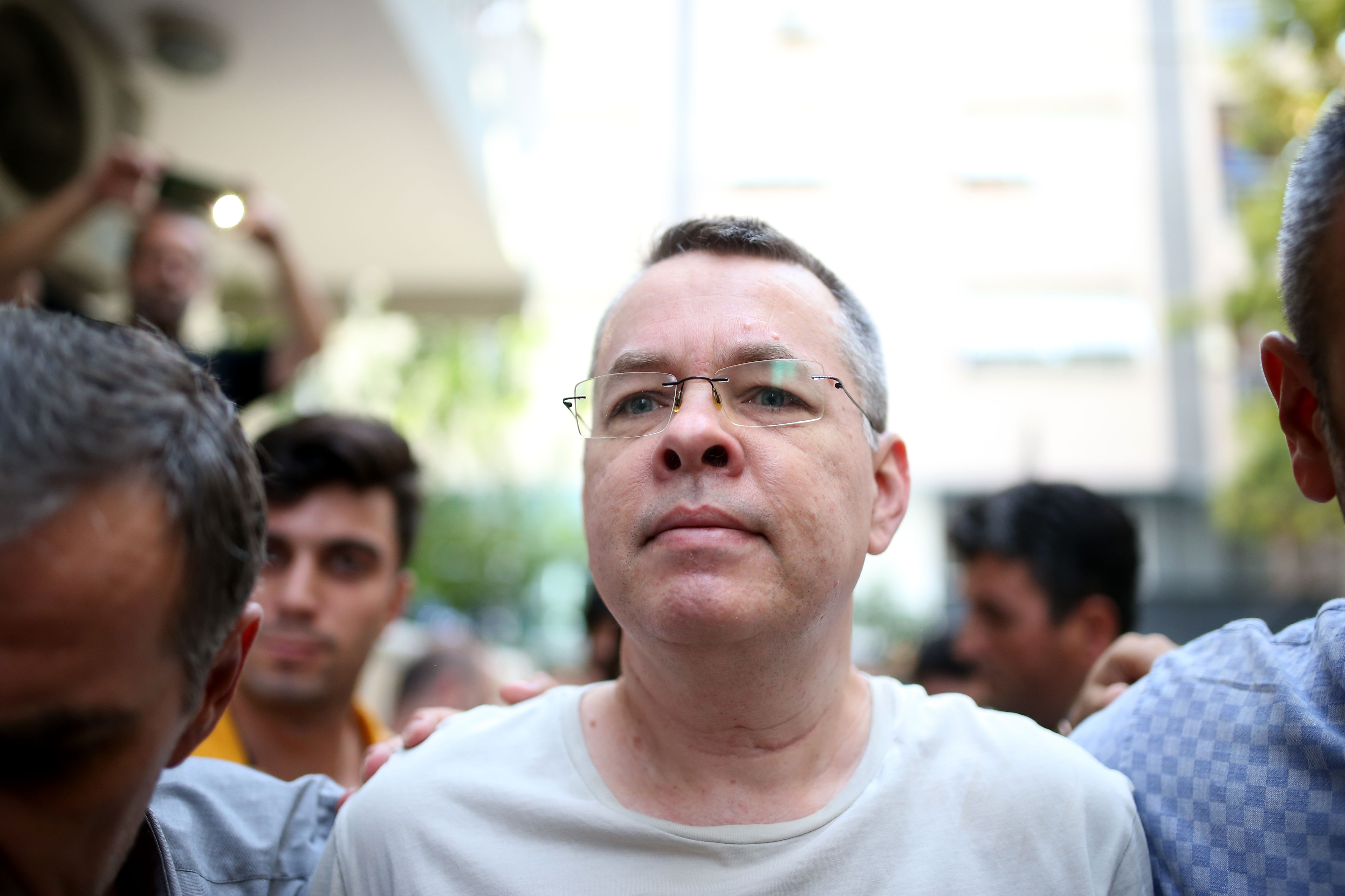 Pastor Andrew Brunson, held hostage by Turkey for two years, was finally released to US custody on October 12, 2018.