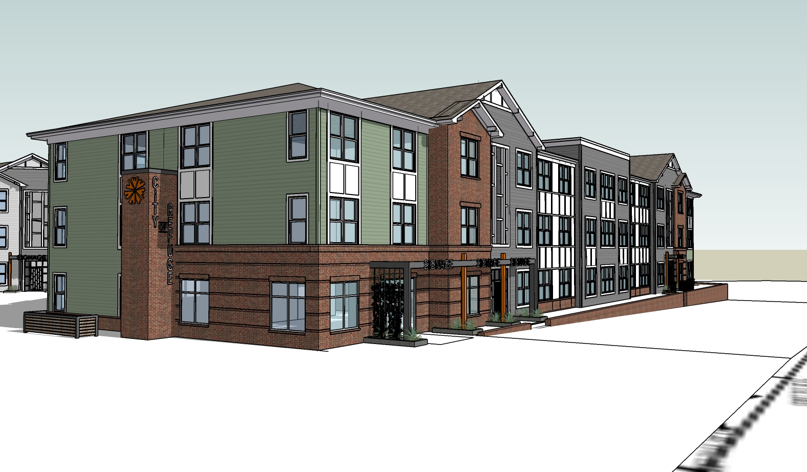 City of Refuge's planned apartment component.