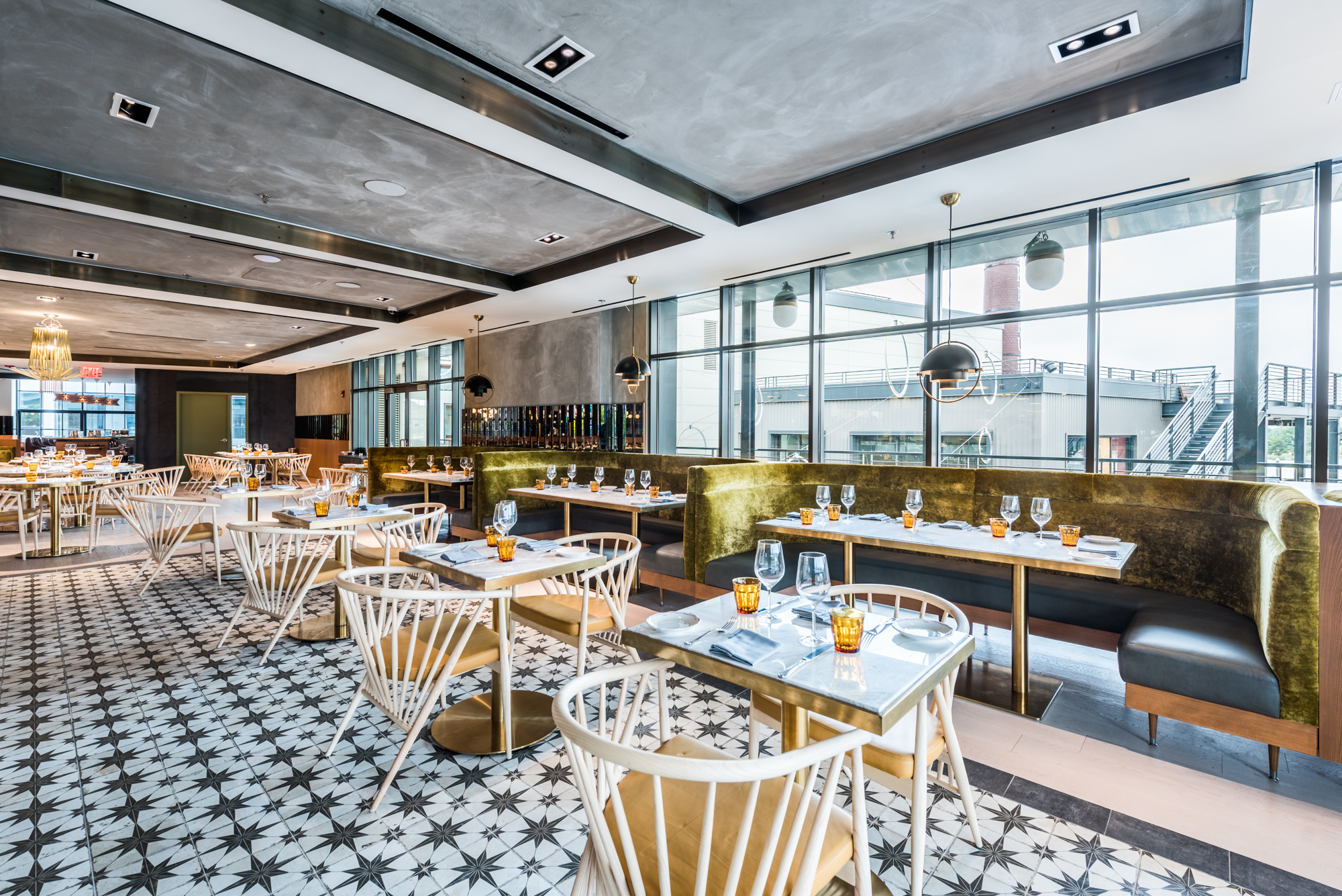 The Menu at Officina's New Second-Story Restaurant Is Inspired by Southern Italy