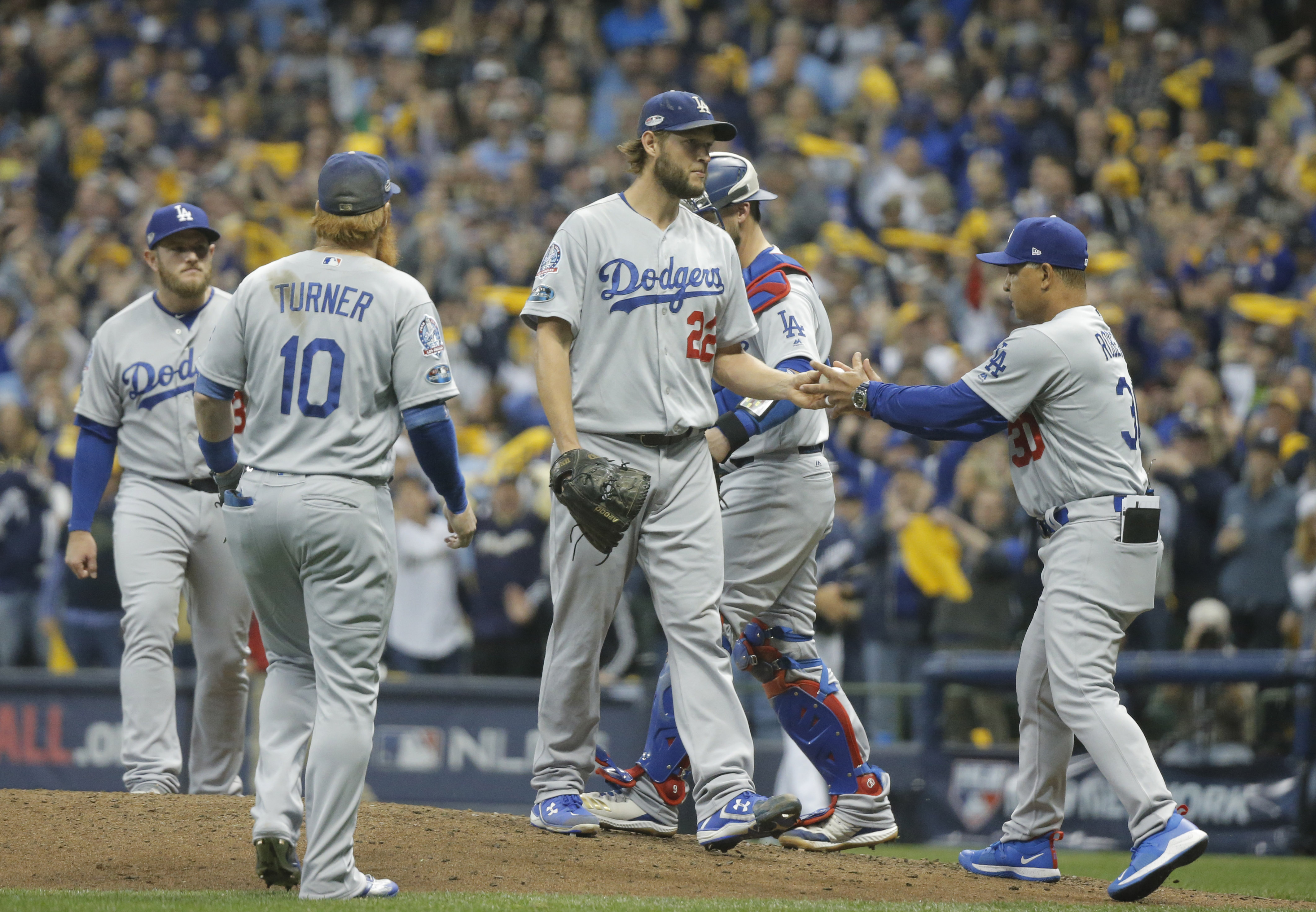 MLB: NLCS-Los Angeles Dodgers at Milwaukee Brewers