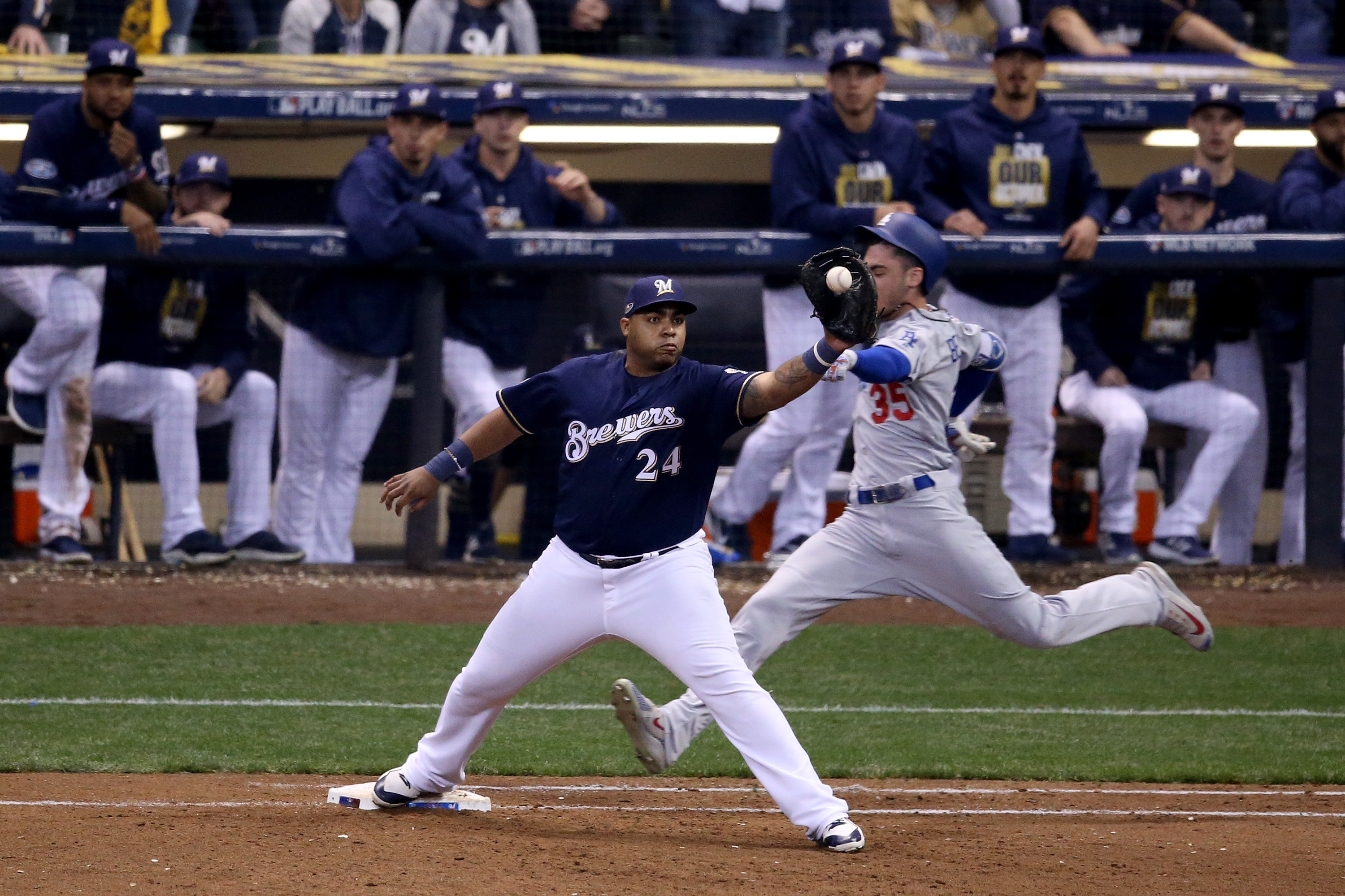 2018 NLCS: Dodgers vs  Brewers Game 2, and ALCS: Astros vs  Red Sox
