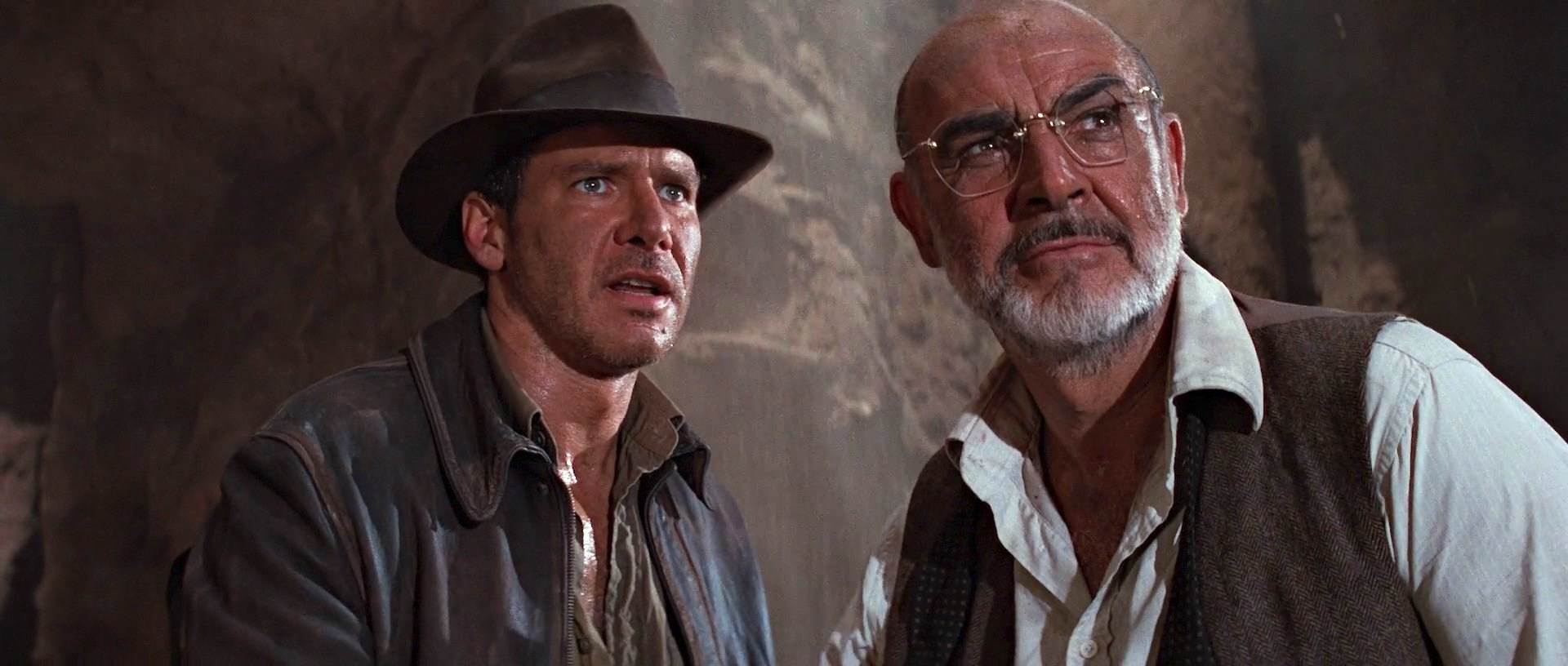 harrison ford and sean connery in indiana jones and the last crusade