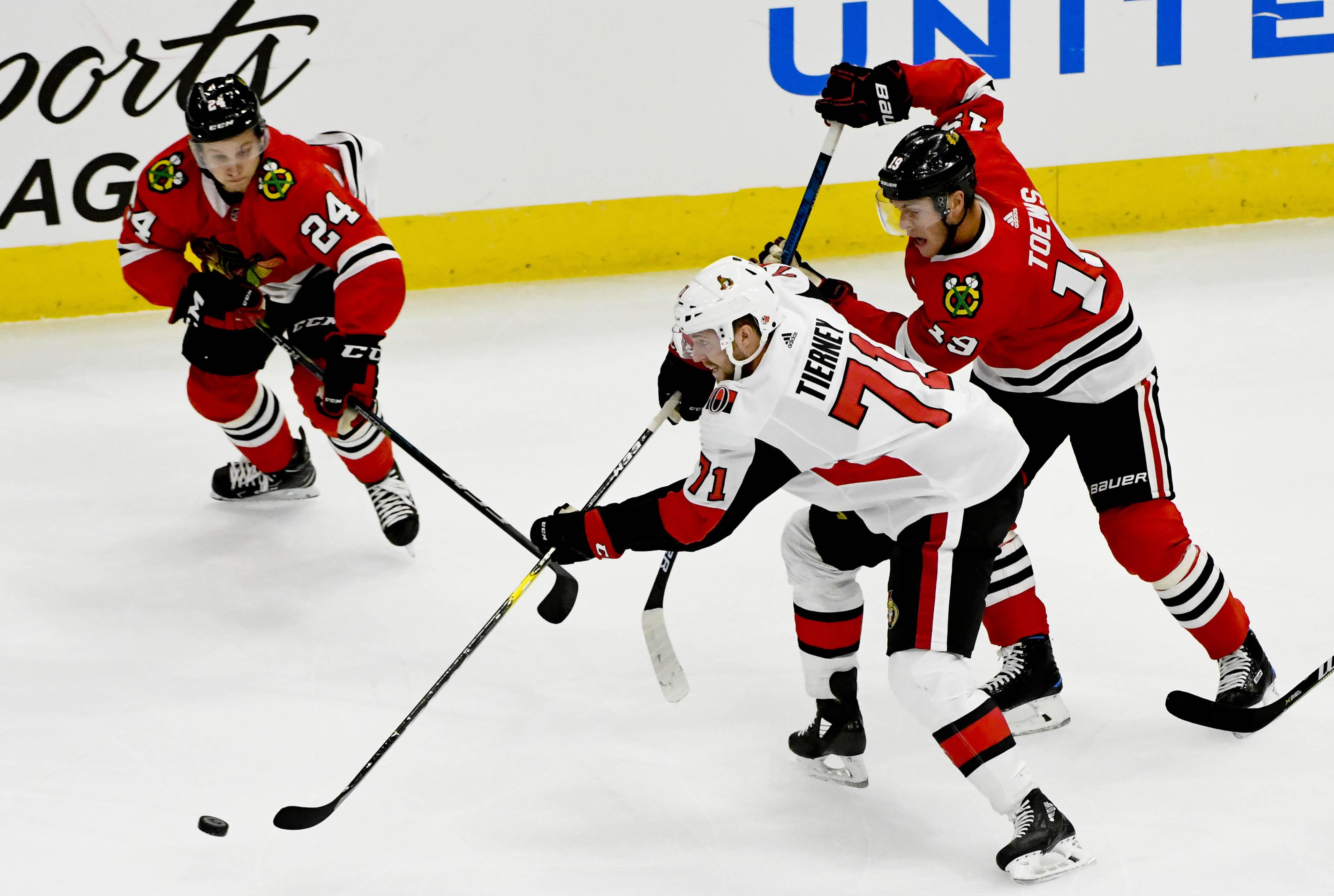 NHL: Preseason-Ottawa Senators at Chicago Blackhawks