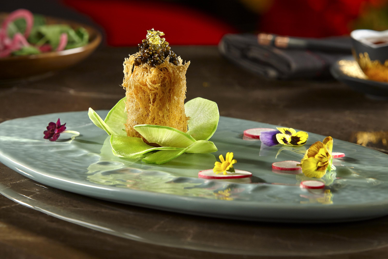 Caviar toro puff at Red Plate