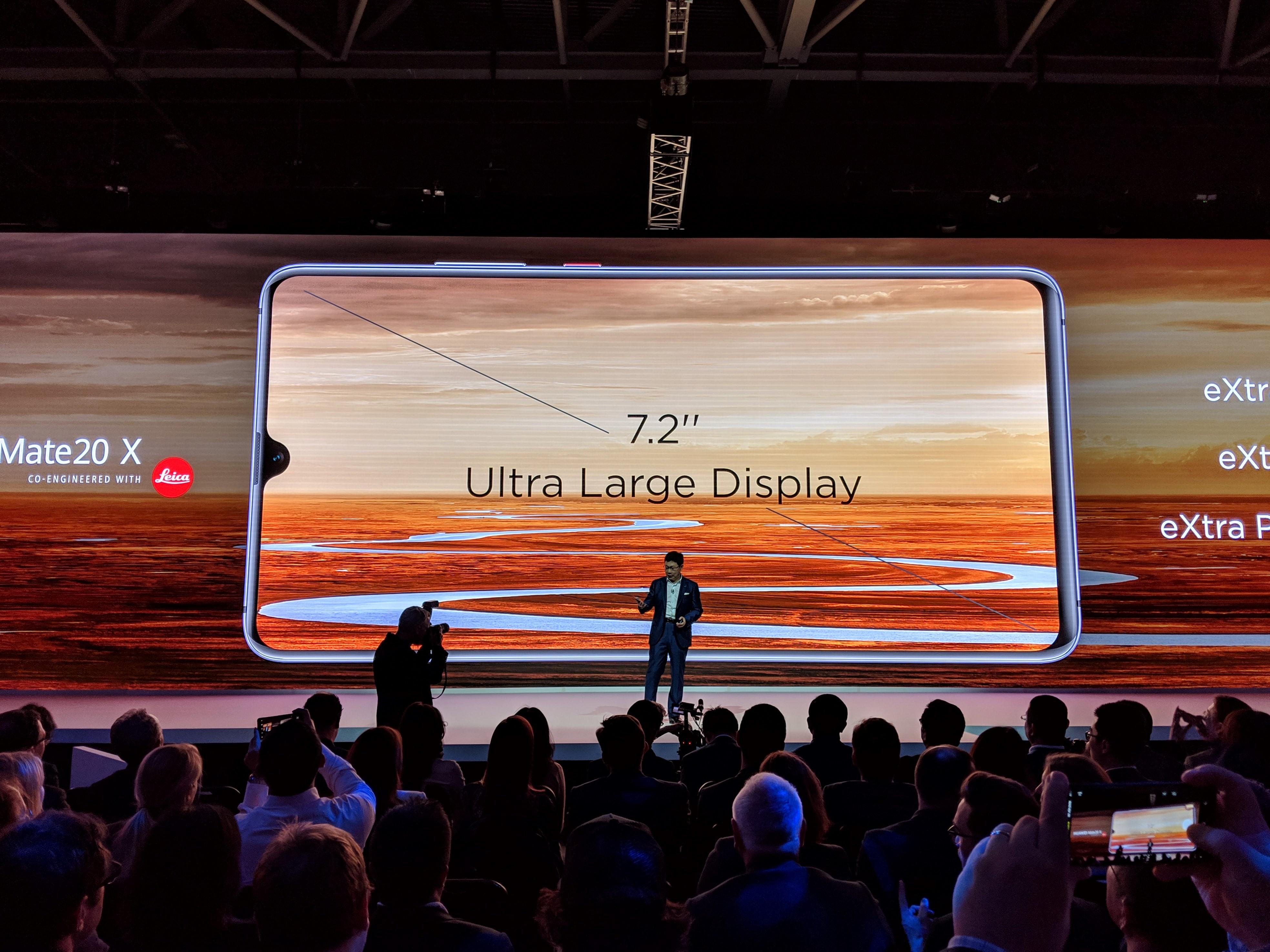 Huawei announces 7.2-inch Mate 20 X