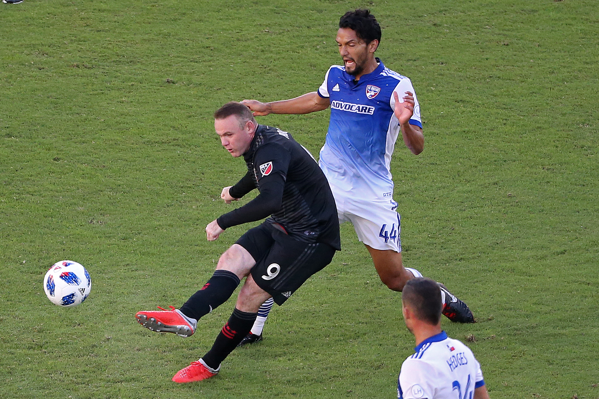 MLS - D.C. United - Wayne Rooney shoots the ball