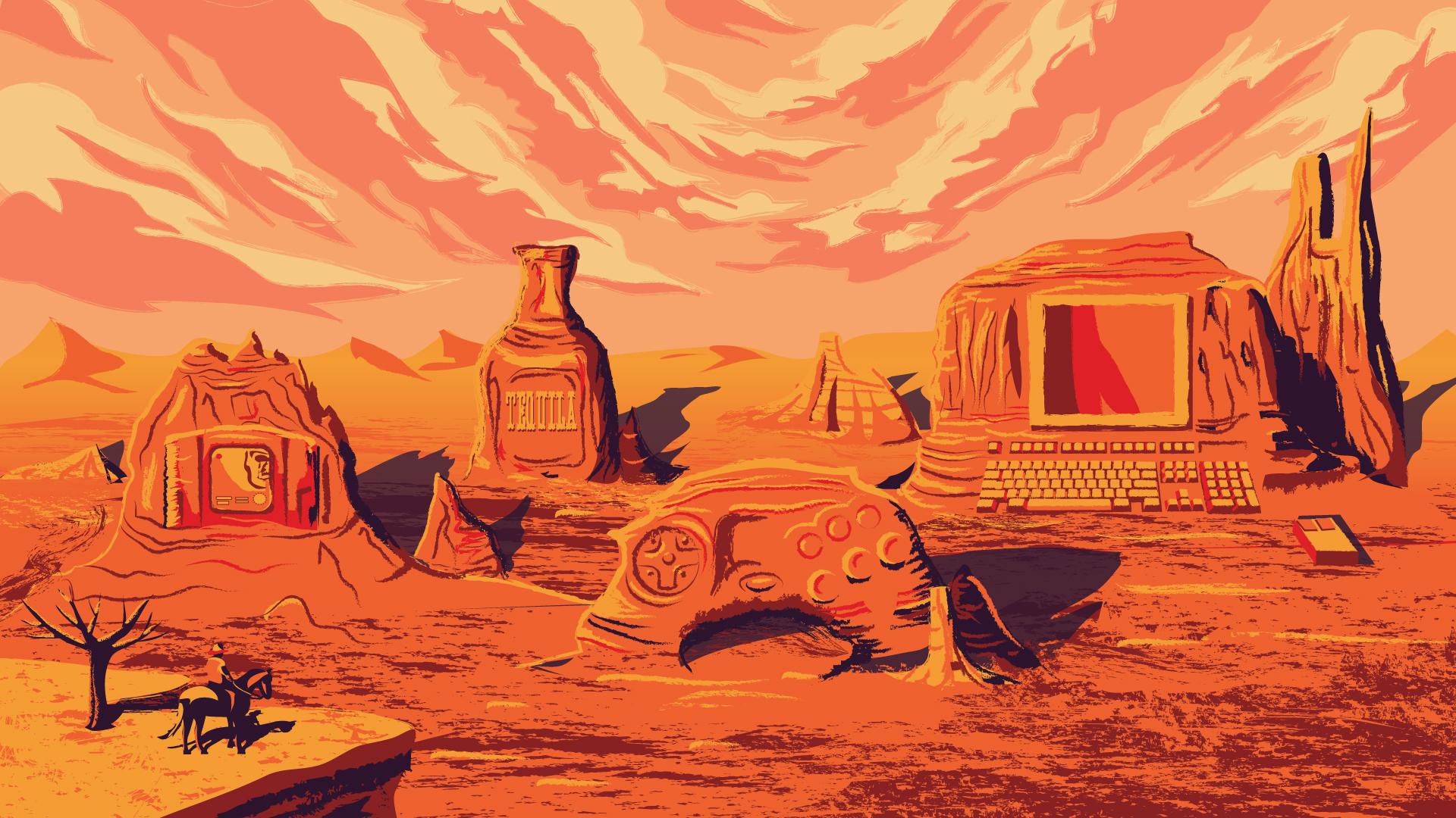Red Dead franchise illustration