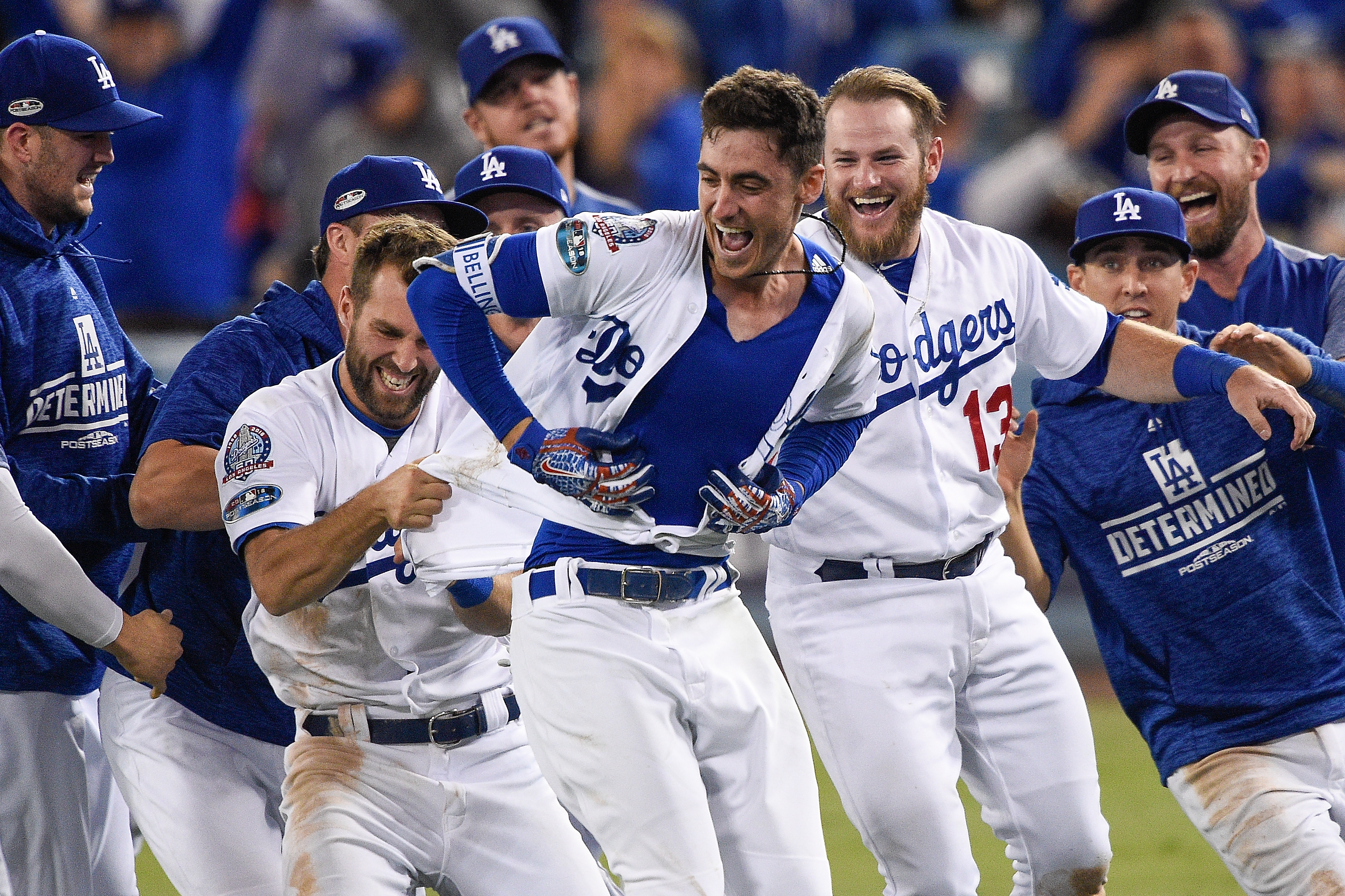 League Championship Series - Milwaukee Brewers v Los Angeles Dodgers - Game Four